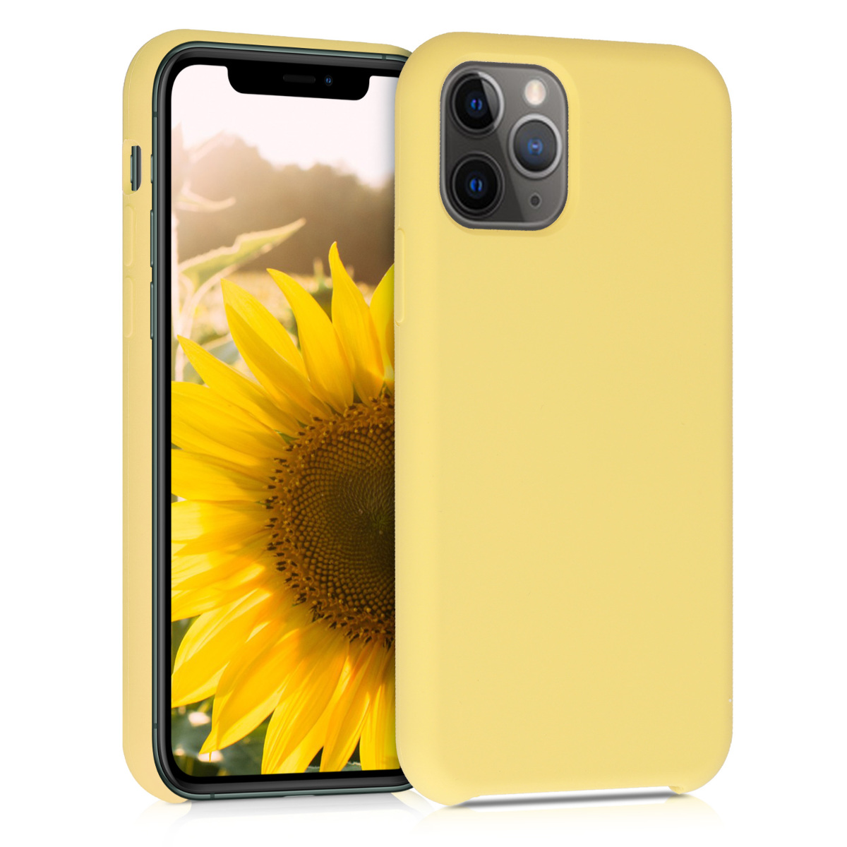 KW Θήκη Σιλικόνης Apple iPhone 11 Pro - Soft Flexible Rubber - Yellow (49726.49)