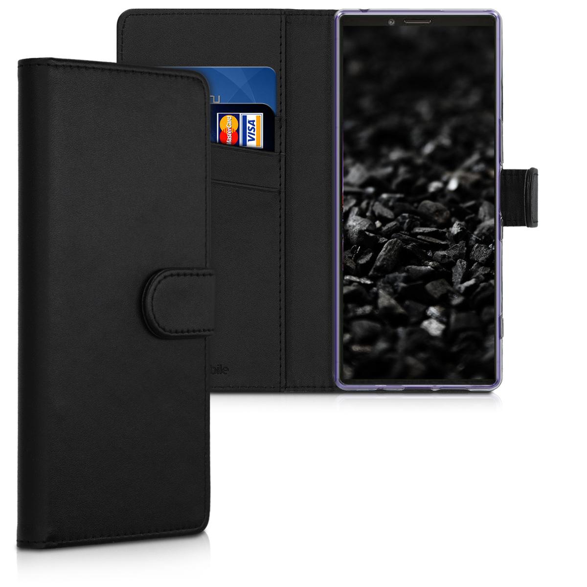 KW Θήκη Πορτοφόλι Sony Xperia 1 - Black (49727.01)