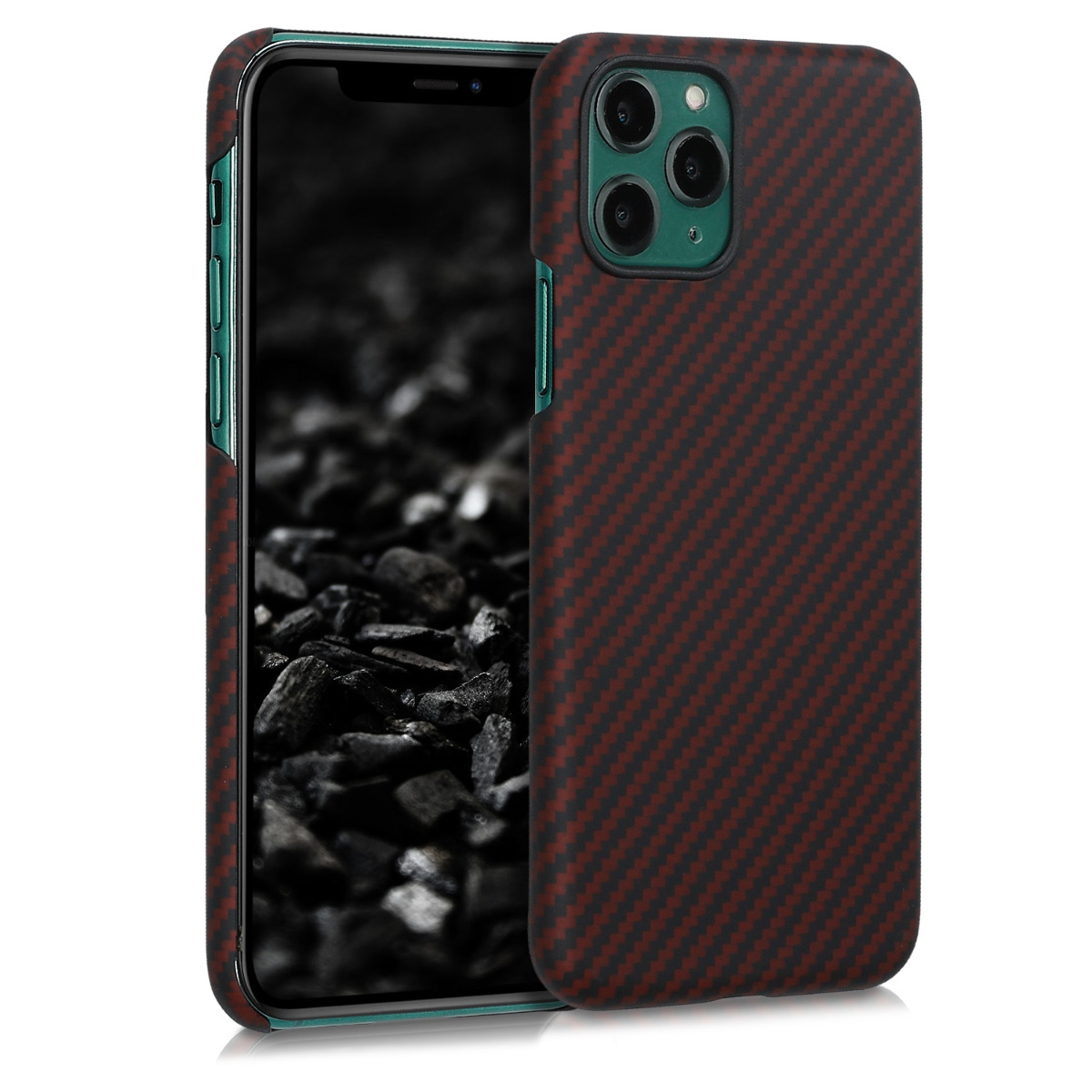 Kalibri Aramid Fiber Body - Σκληρή Θήκη Apple iPhone 11 Pro - Red Matte / Black (49733.51)