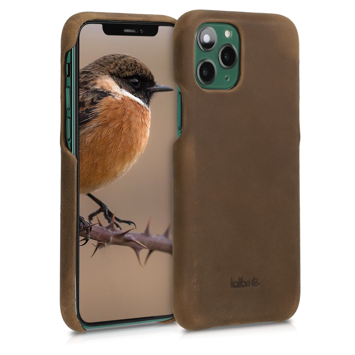 Kalibri Σκληρή Δερμάτινη Θήκη Apple iPhone 11 Pro - Smooth Genuine Leather Hard Case - Brown (49736.05)