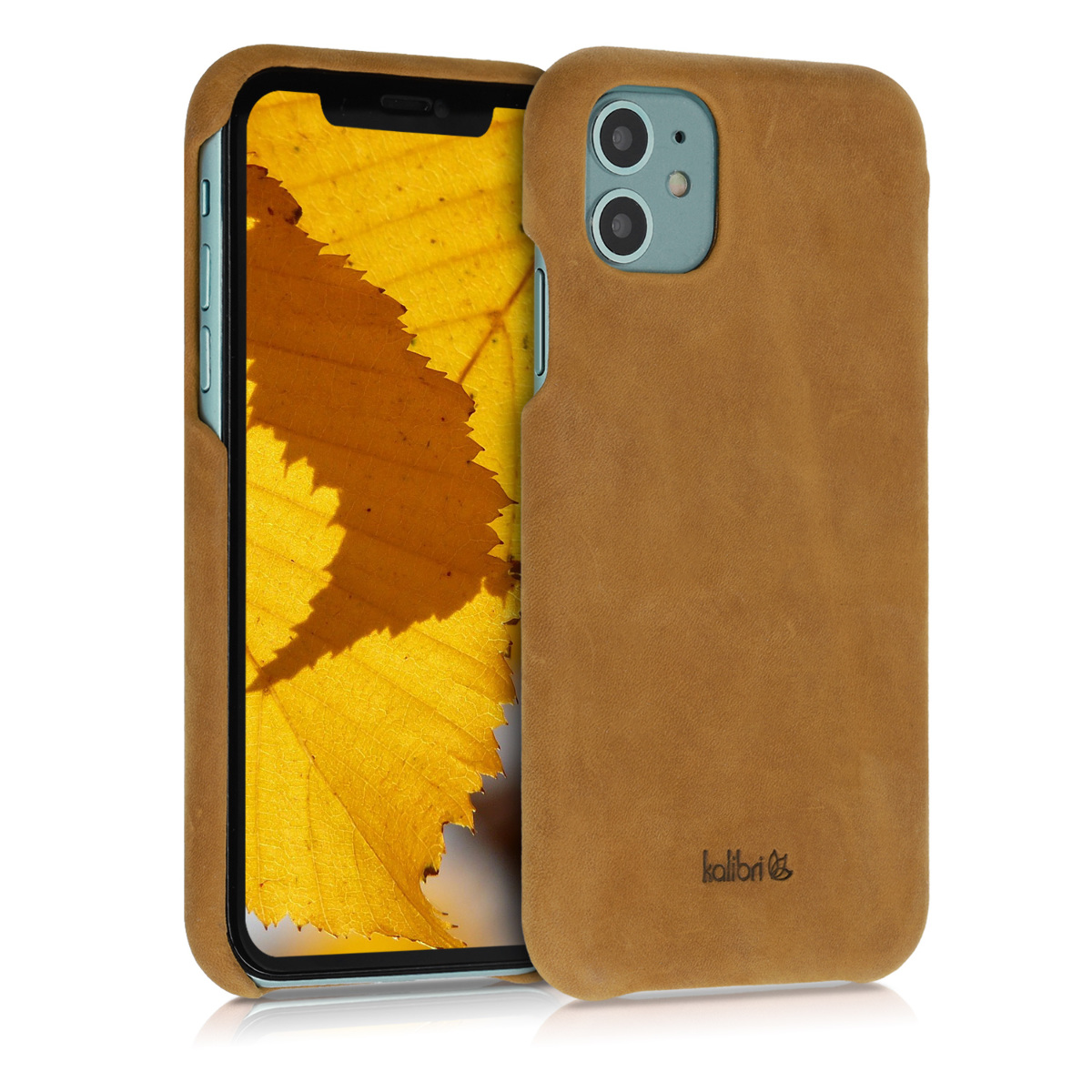 Kalibri Σκληρή Δερμάτινη Θήκη Apple iPhone 11 - Smooth Genuine Leather Hard Case - Light Brown (49737.24)