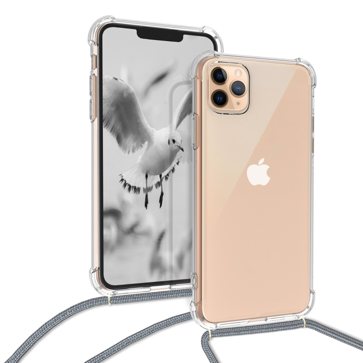 KW Θήκη Σιλικόνης με Λουράκι iPhone 11 Pro - Transparent (49739.02)