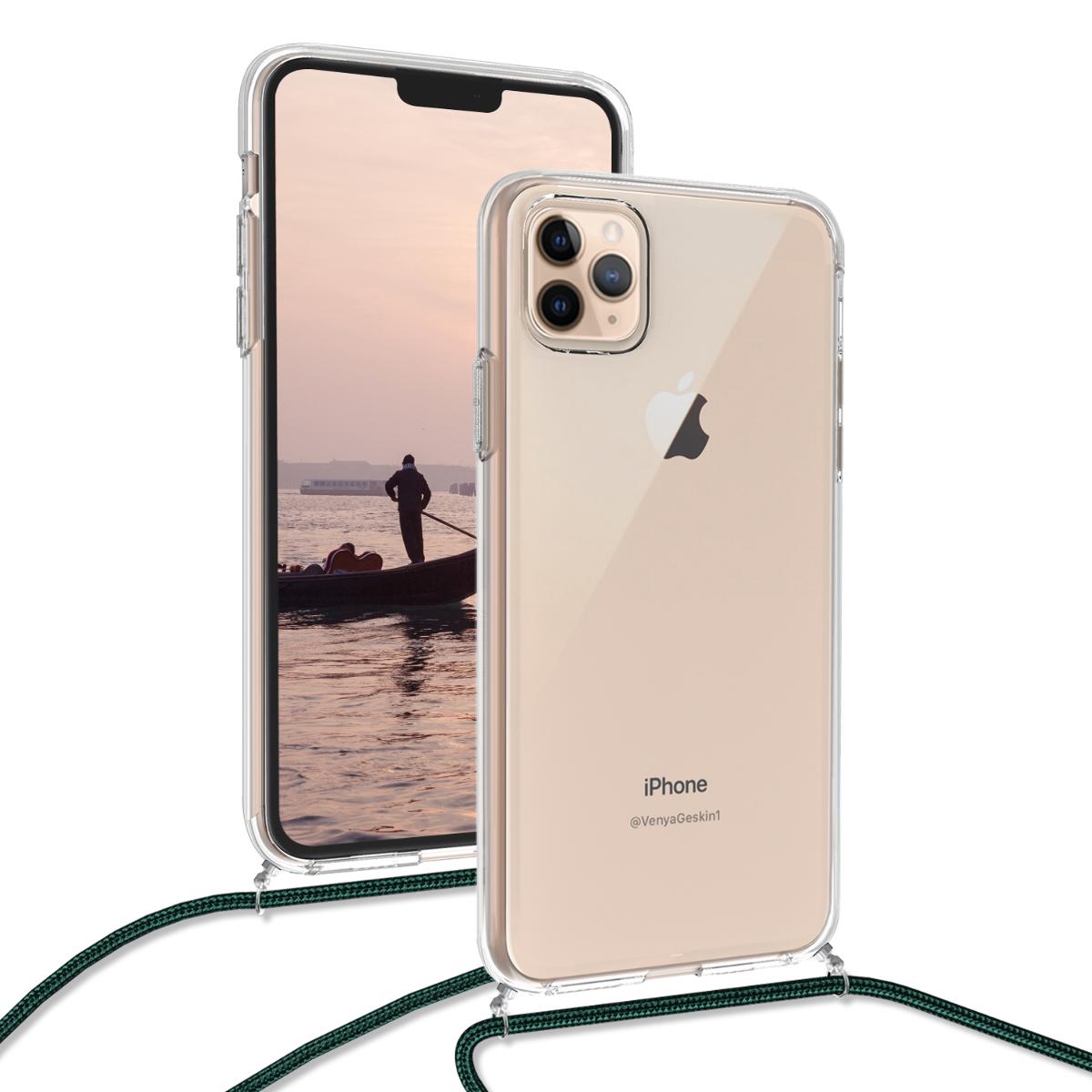 KW Θήκη Σιλικόνης με Λουράκι Λαιμού Apple iPhone 11 Pro Max - Transparent (49741.08)