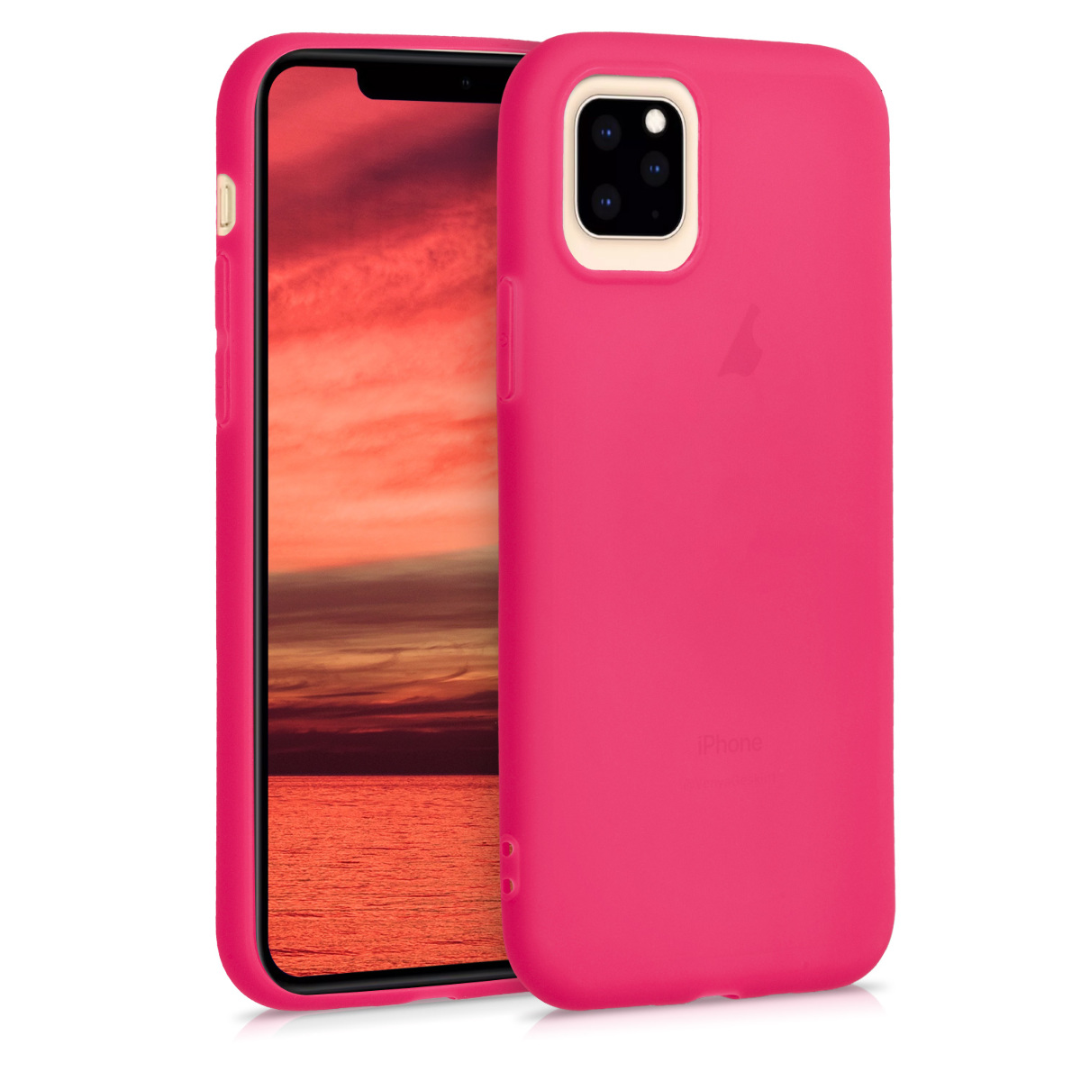 KW Θήκη Σιλικόνης Apple iPhone 11 Pro - Soft Flexible Shock Absorbent - Neon Pink (49781.77)