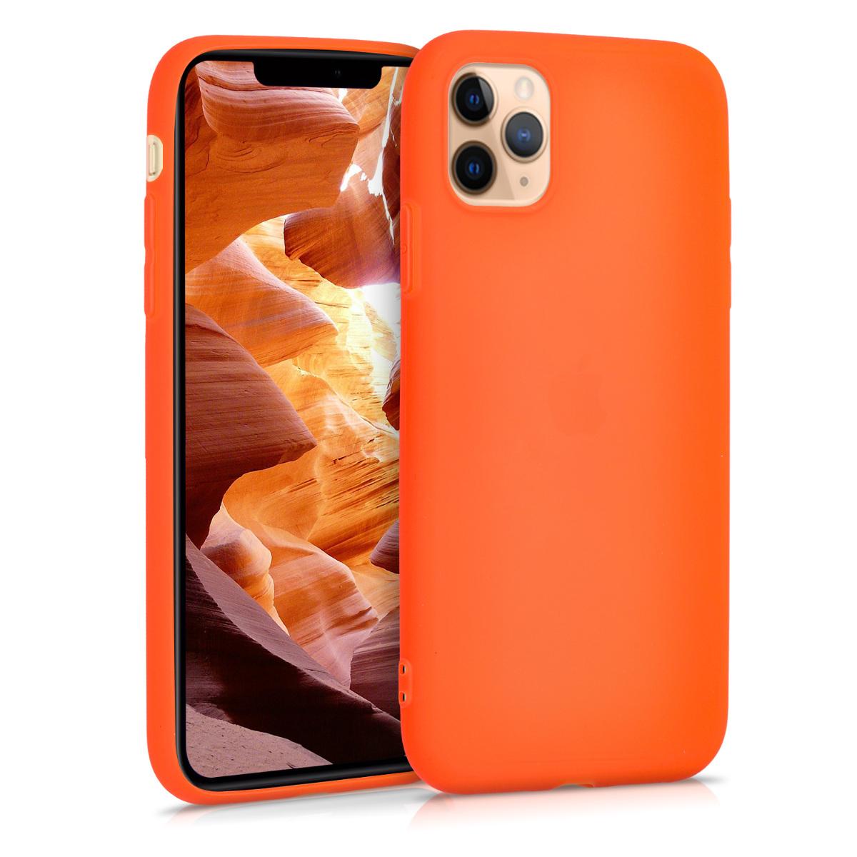 KW Θήκη Σιλικόνης Apple iPhone 11 Pro Max - Neon Orange (49782.69)