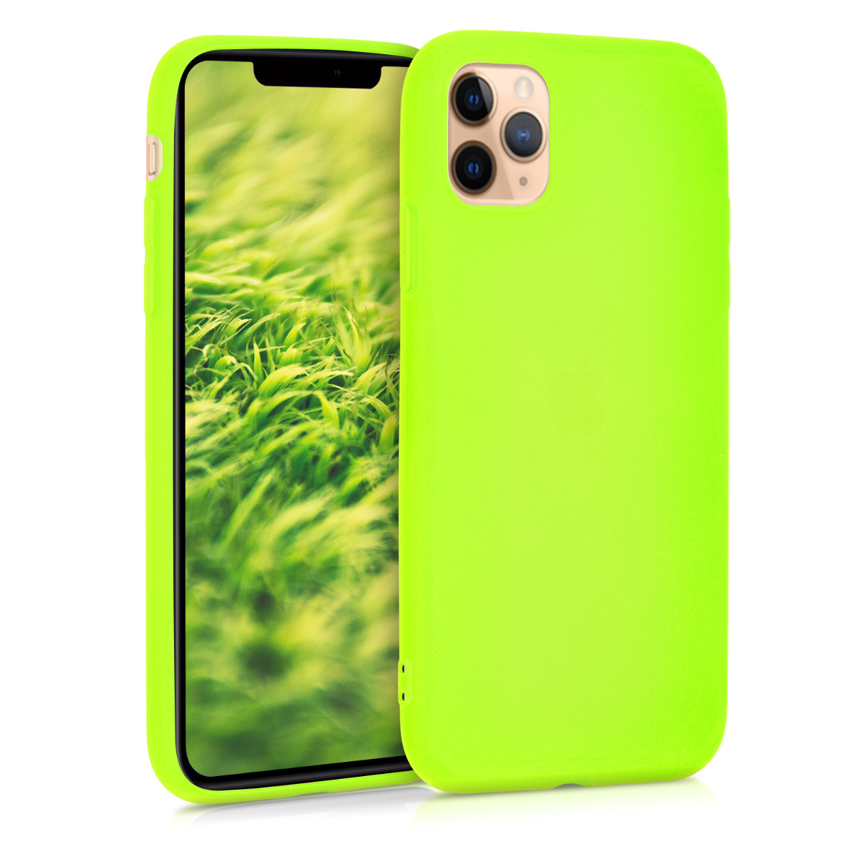 KW Θήκη Σιλικόνης Apple iPhone 11 Pro Max - Neon Yellow (49782.75)