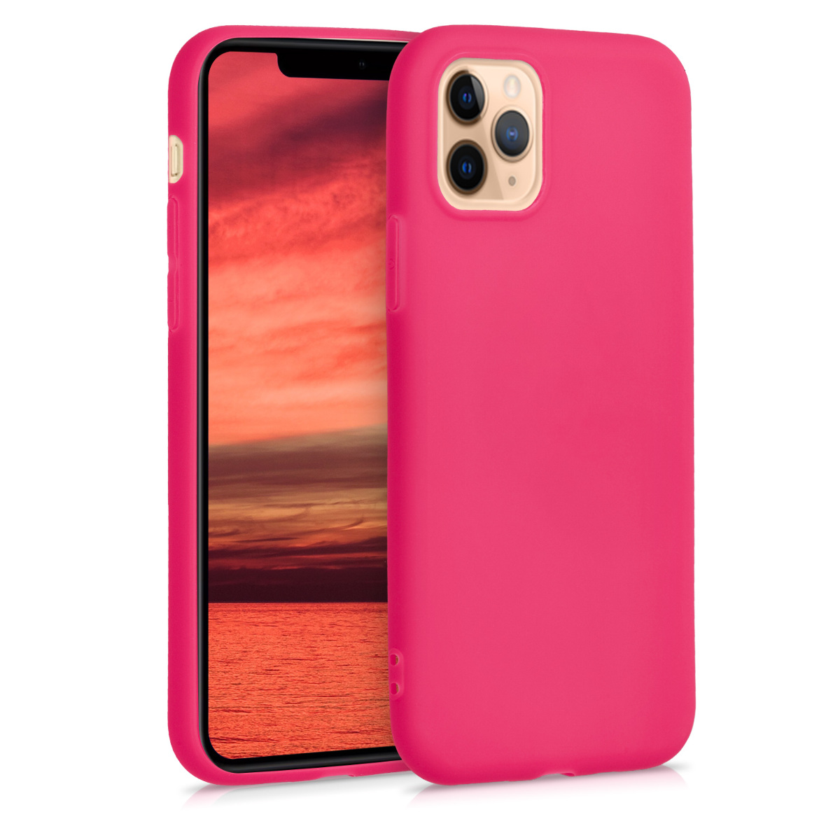 KW Θήκη Σιλικόνης Apple iPhone 11 Pro Max - Neon Pink (49782.77)