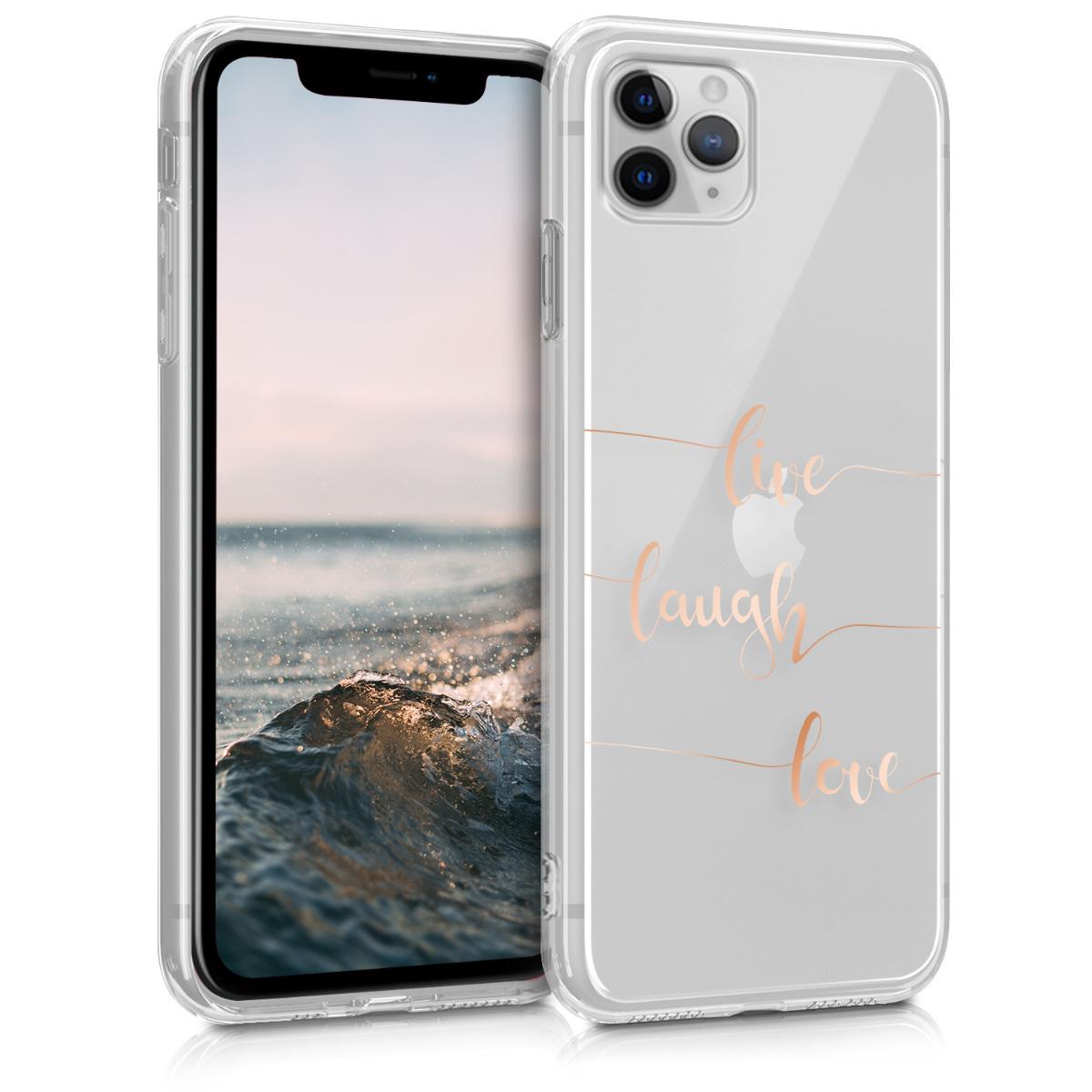 KW Θήκη Σιλικόνης Apple iPhone 11 Pro - Crystal Clear - Rose Gold / Transparent (49784.02)