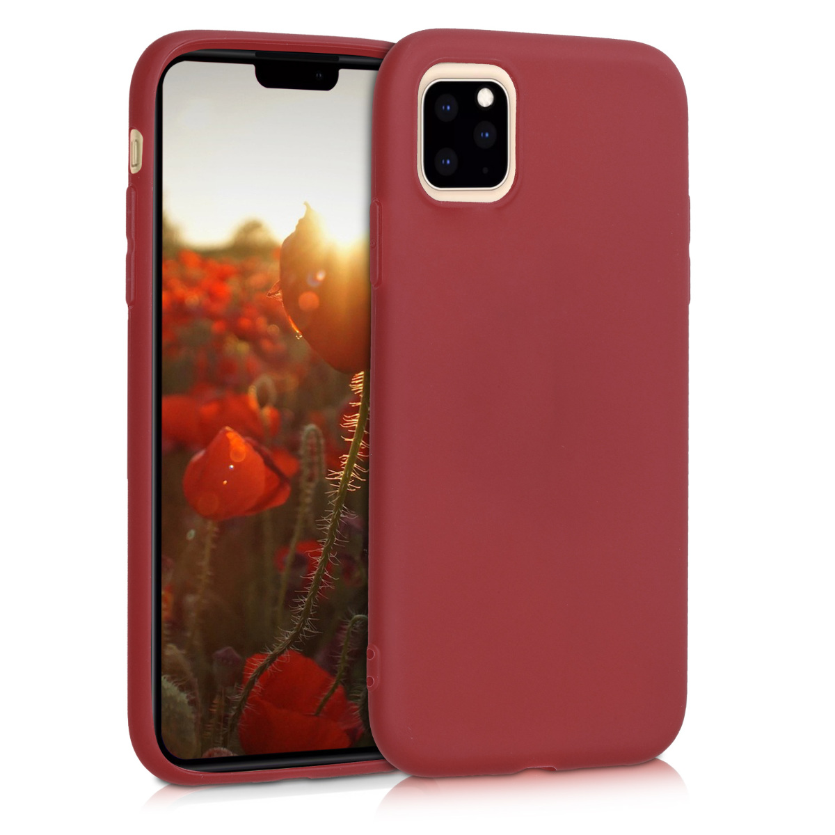 KW Θήκη Σιλικόνης Apple iPhone 11 - Soft Flexible Shock Absorbent - Red Matte (49787.09)