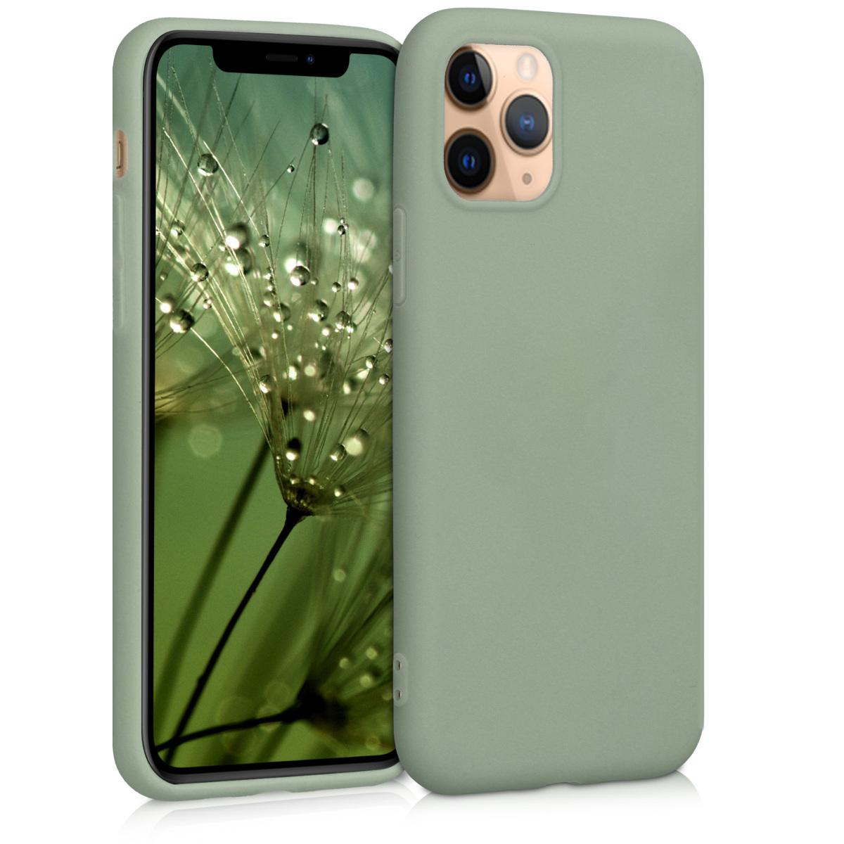 KW Θήκη Σιλικόνης Apple iPhone 11 Pro - Gray Green (49788.172)