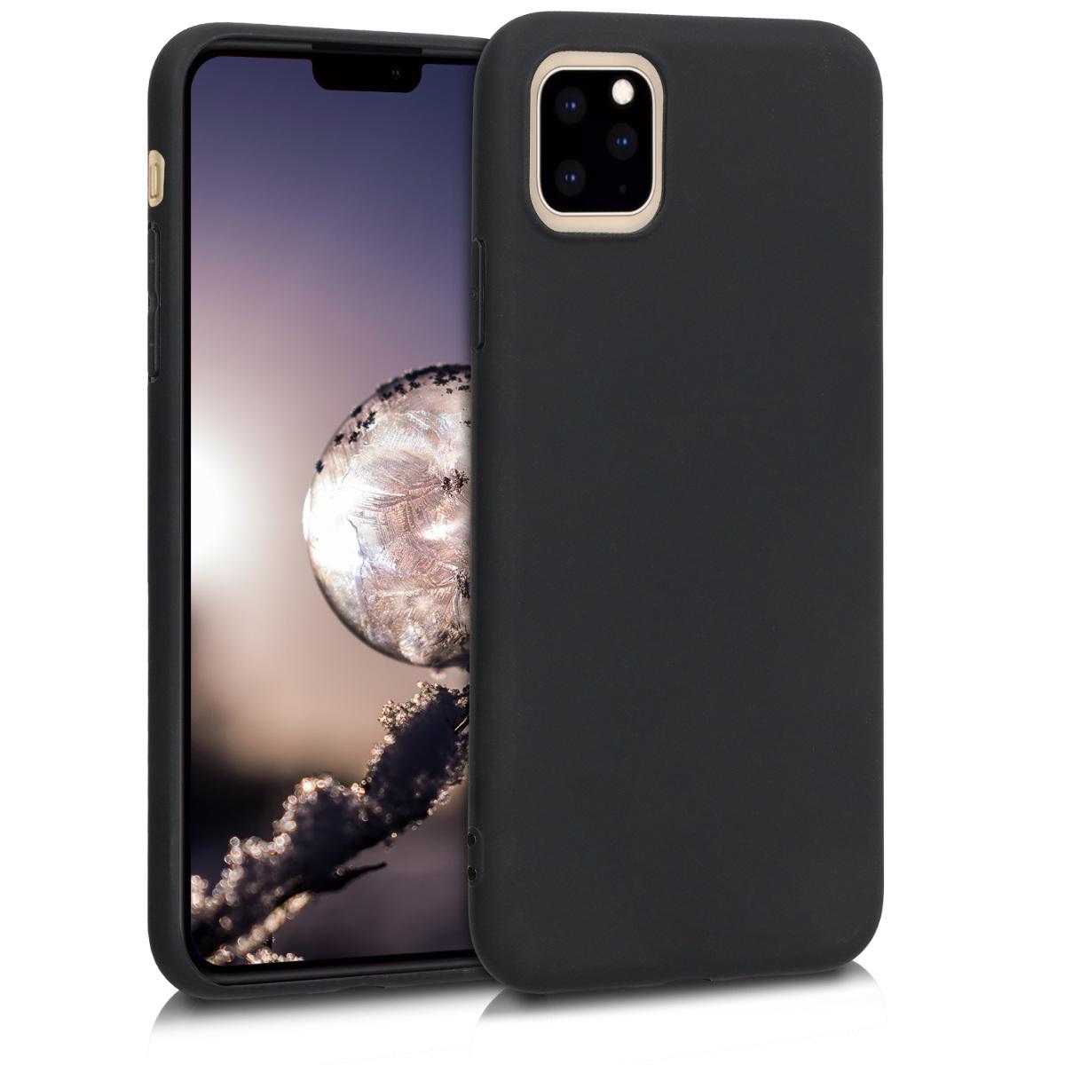 KW Θήκη Σιλικόνης iPhone 11 Pro - Black Matte (49788.47)