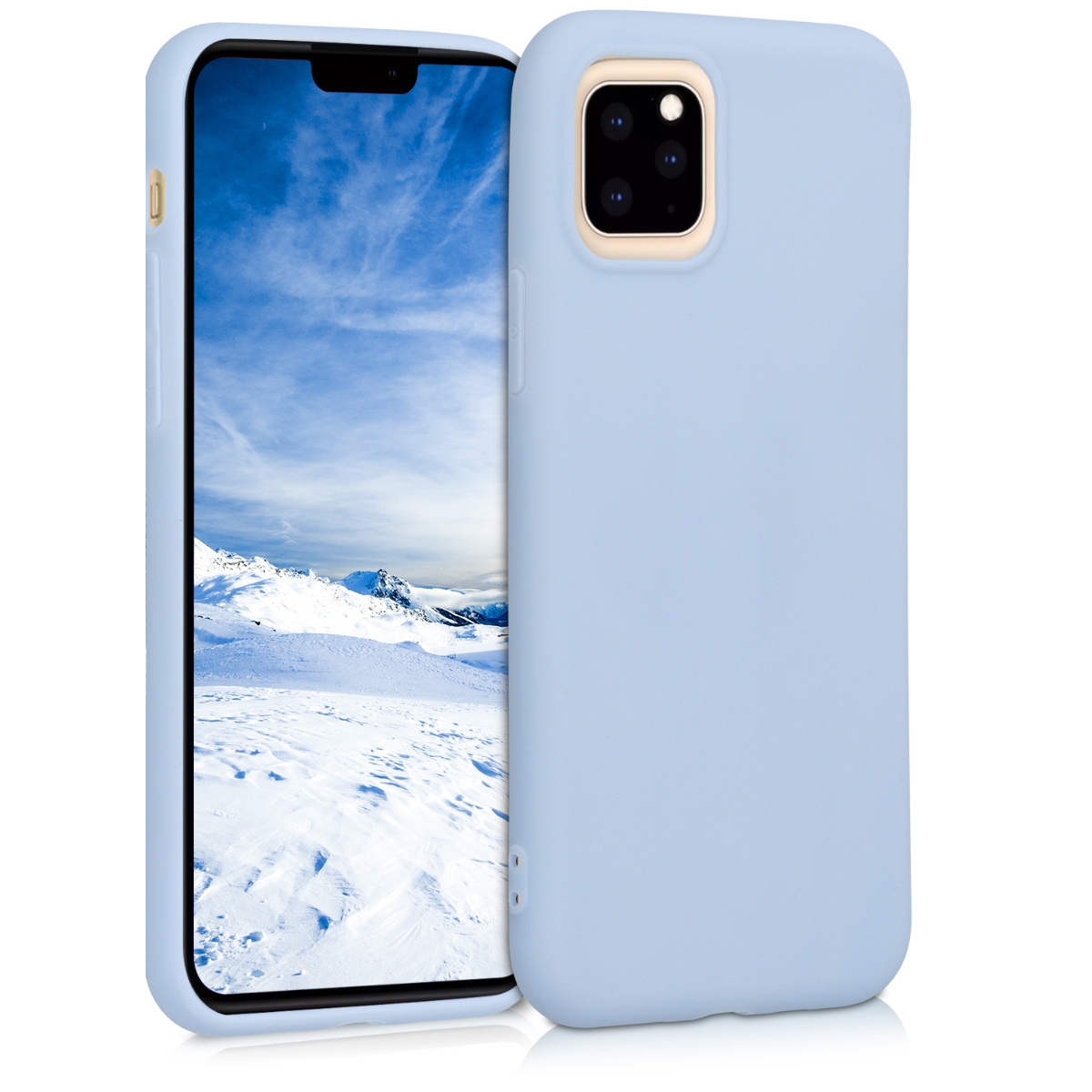 KW Θήκη Σιλικόνης Apple iPhone 11 Pro - Soft Flexible Shock Absorbent - Light Blue Matte (49788.58)