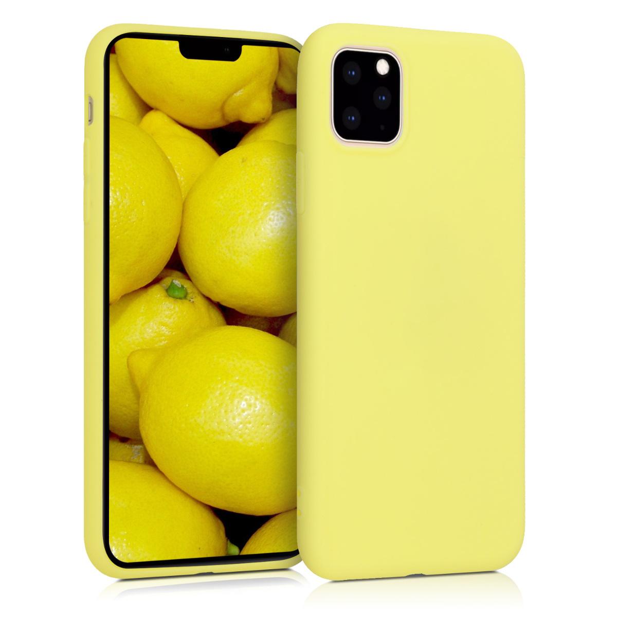 KW Θήκη Σιλικόνης iPhone 11 Pro Max - Pastel Yellow Matte (49789.119)