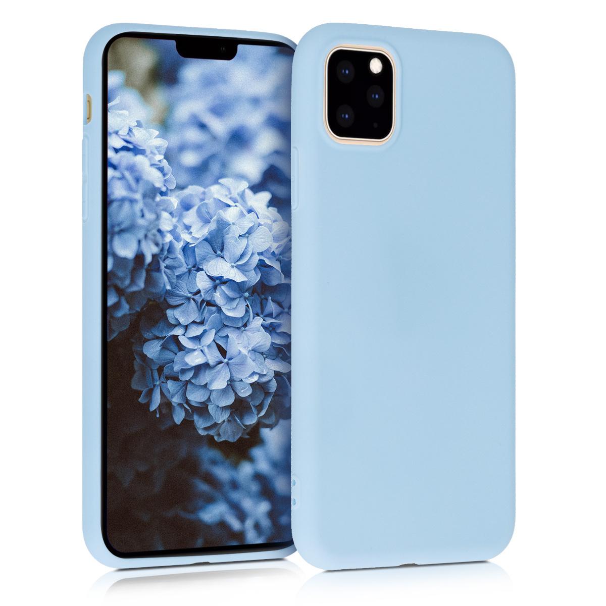 KW Θήκη Σιλικόνης iPhone 11 Pro Max - Light Blue Matte (49789.58)