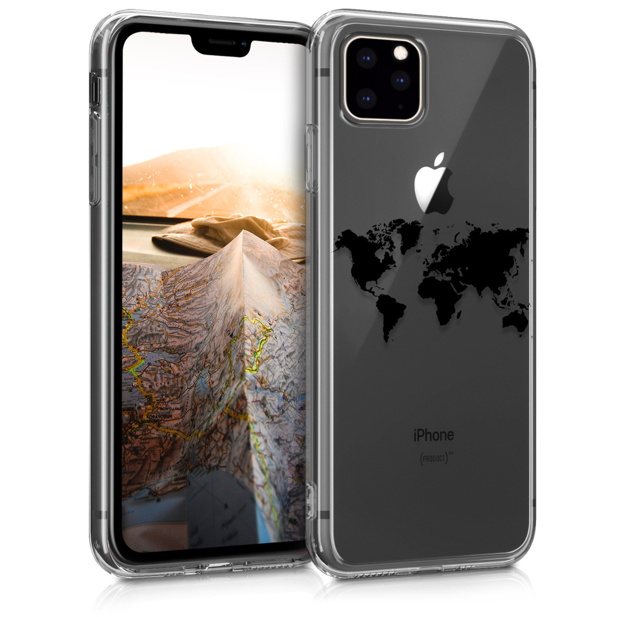 KW Θήκη Σιλικόνης iPhone 11 Pro - Black / Transparent (49792.01)