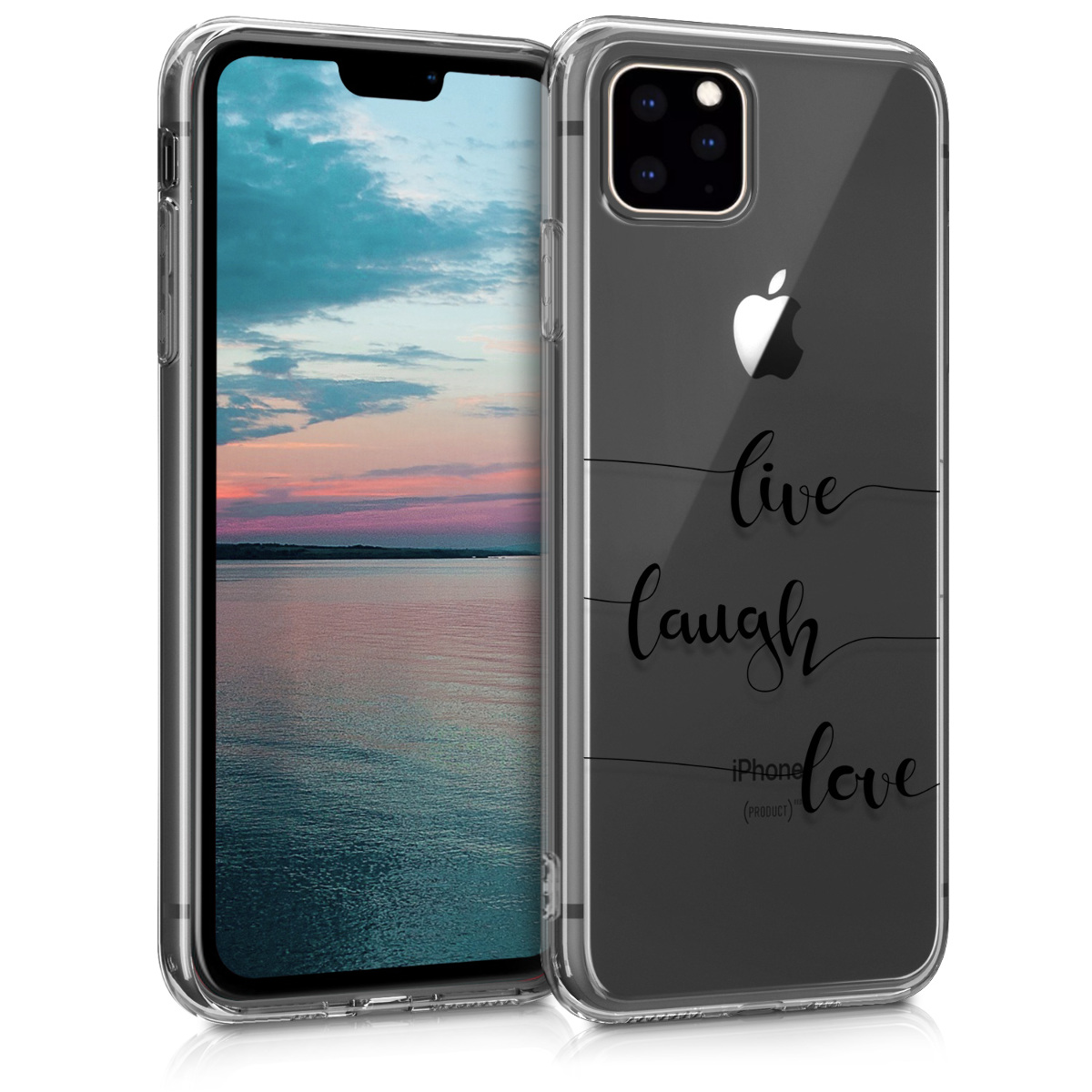 KW Θήκη Σιλικόνης iPhone 11 Pro - Black / Transparent (49792.03)