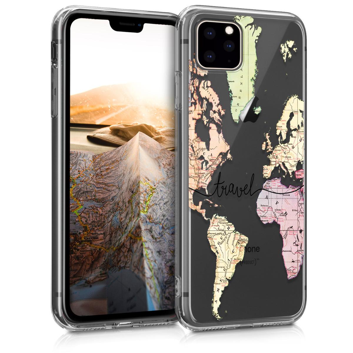 KW Θήκη Σιλικόνης iPhone 11 Pro - Black / Multicolor / Transparent (49793.02)
