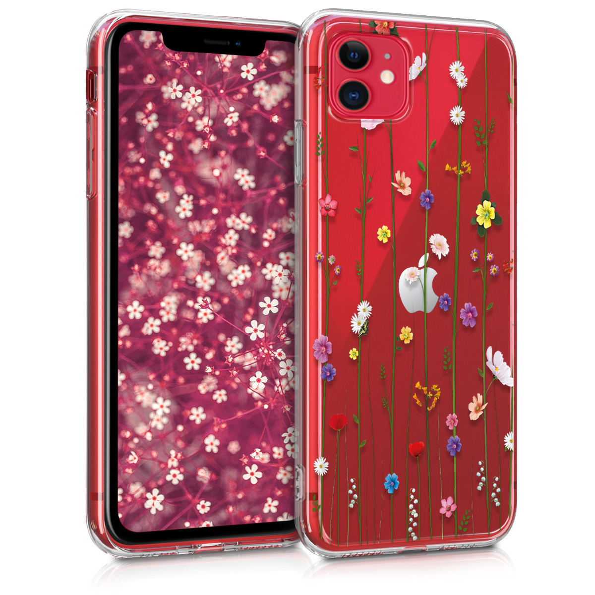 KW Θήκη Σιλικόνης iPhone 11 - Multicolor / Transparent (49793.05)