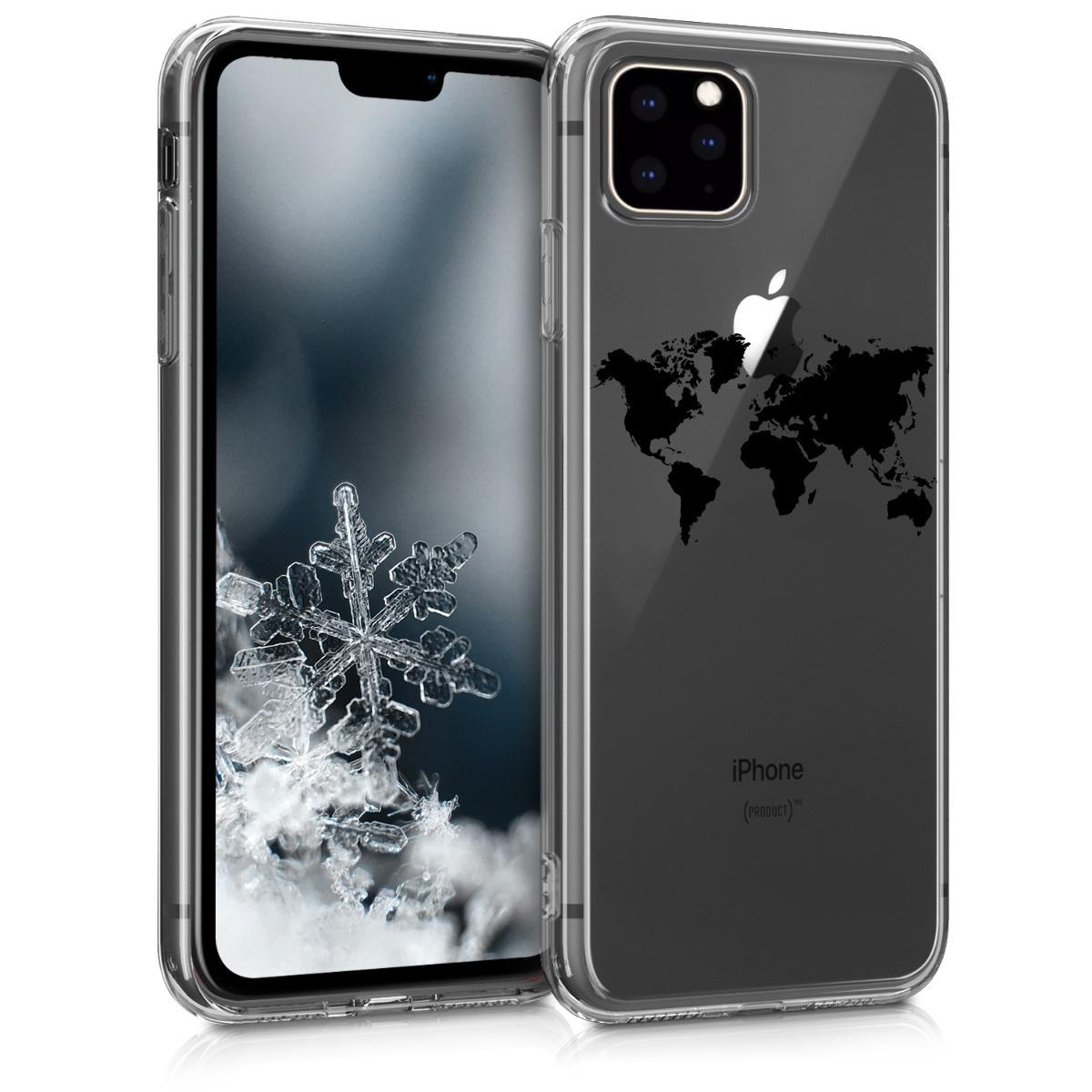 KW Θήκη Σιλικόνης iPhone 11 Pro Max - Black / Transparent (49794.01)