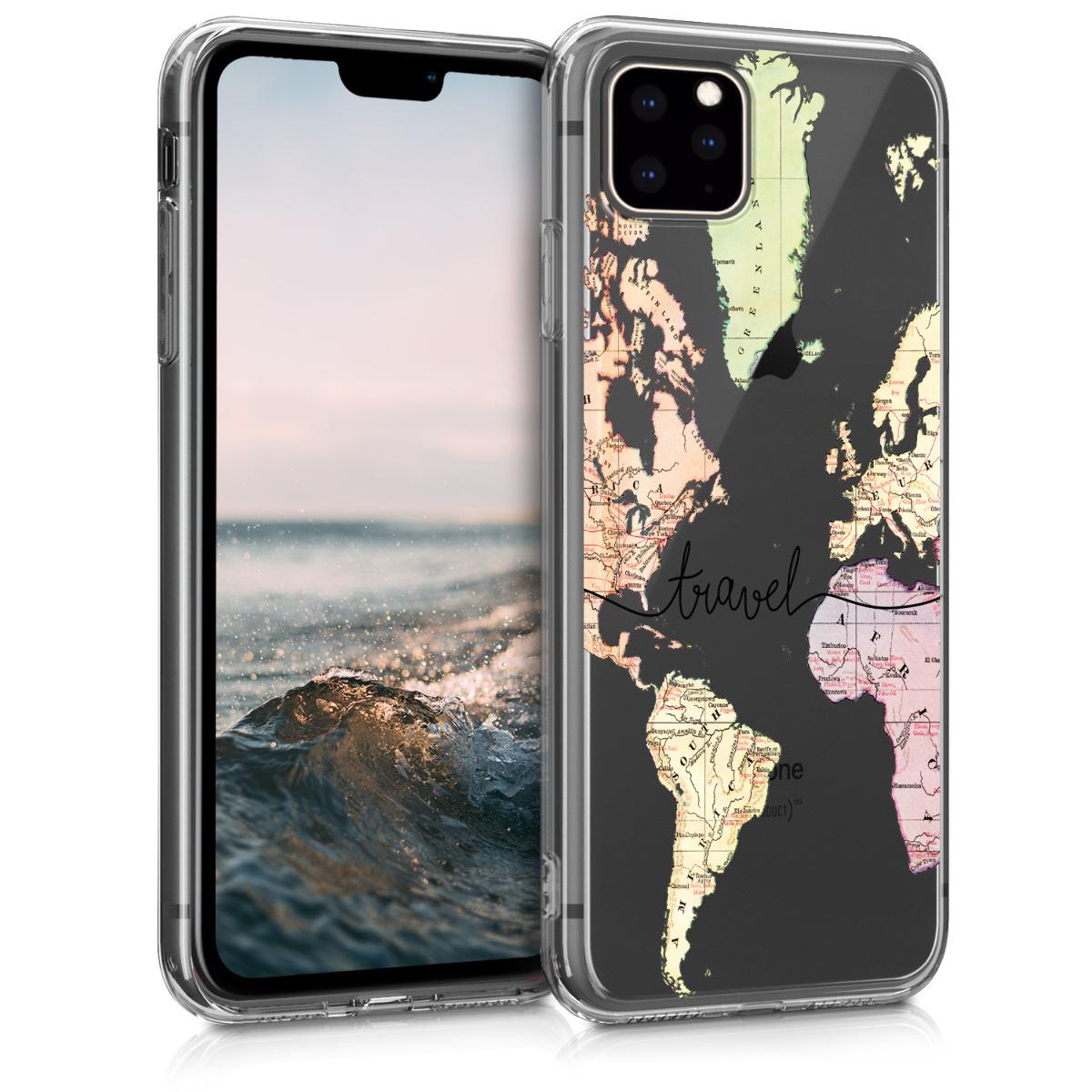KW Θήκη Σιλικόνης iPhone 11 Pro Max -  Black / Multicolor / Transparent (49794.02)