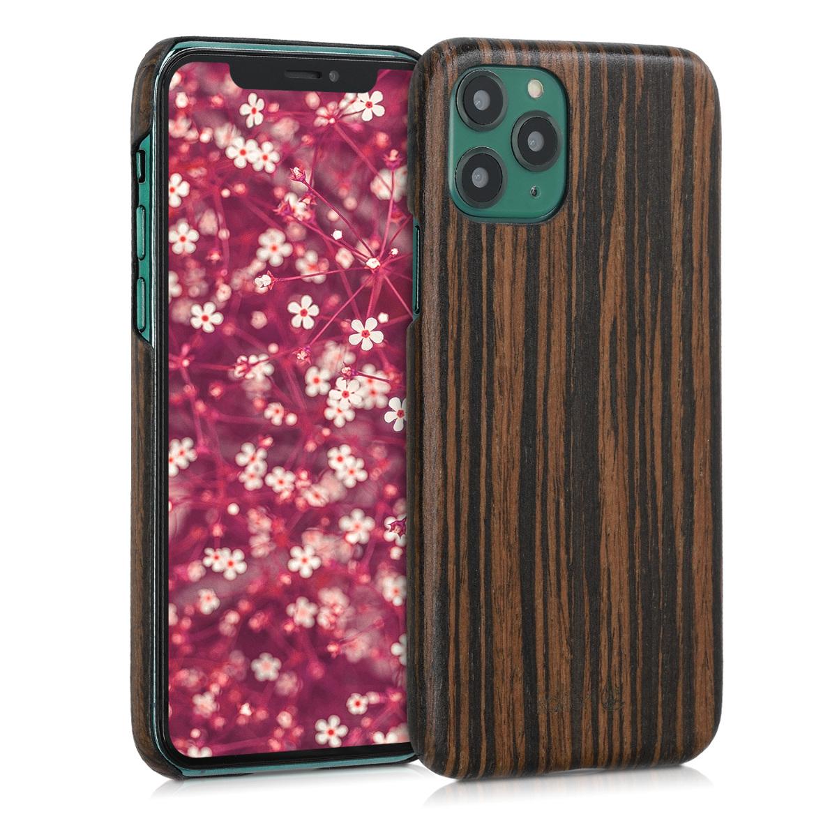 Kalibri Σκληρή Ξύλινη Θήκη iPhone 11 Pro - Dark Brown (49795.18)