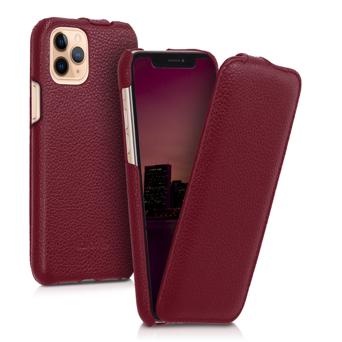 Kalibri Δερμάτινη Θήκη Flip Apple iPhone 11 Pro - Ultra Slim Leather Protective Phone Cover - Red (49807.09)