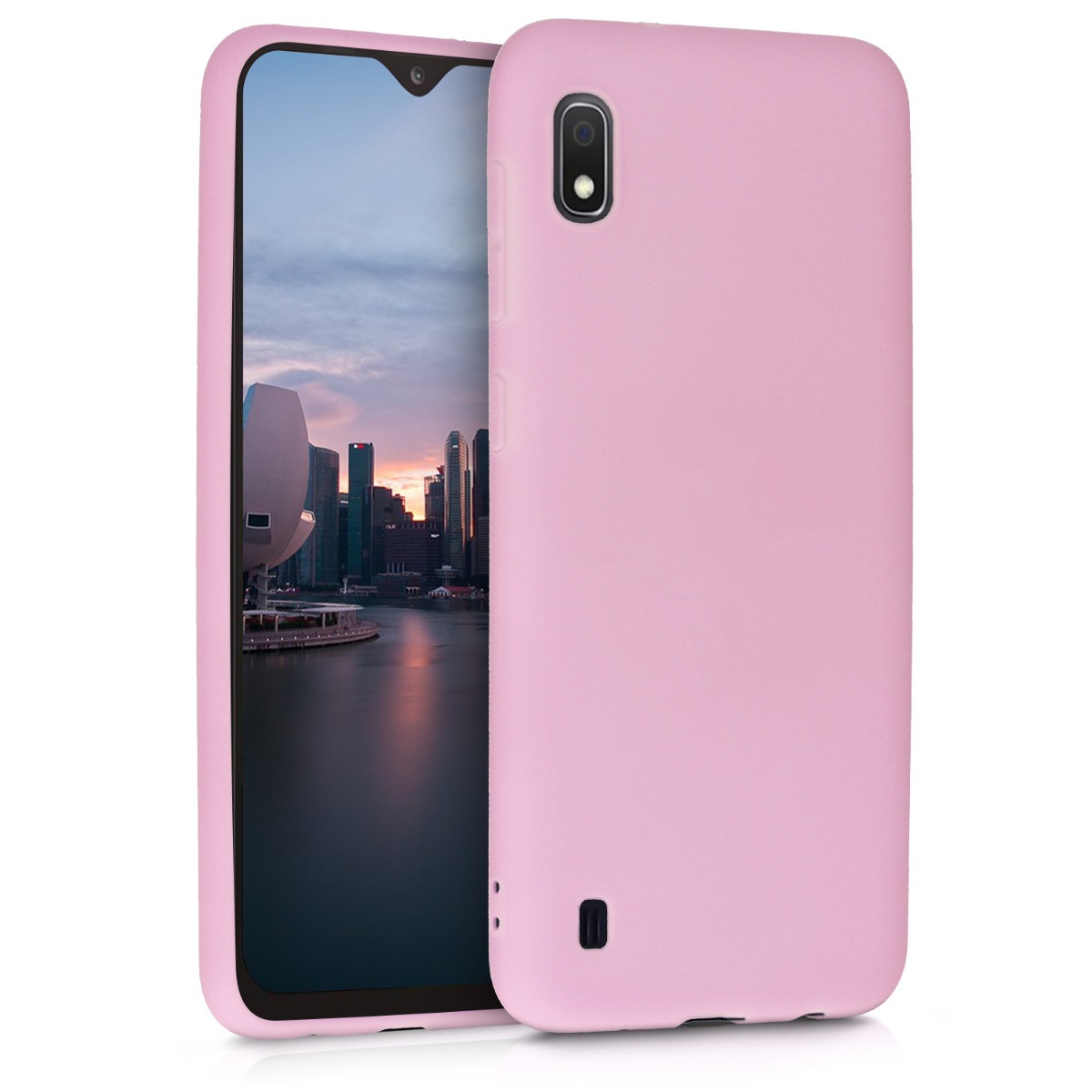 KW Θήκη Σιλικόνης Samsung Galaxy A10 - Antique Pink Matte (49814.52)