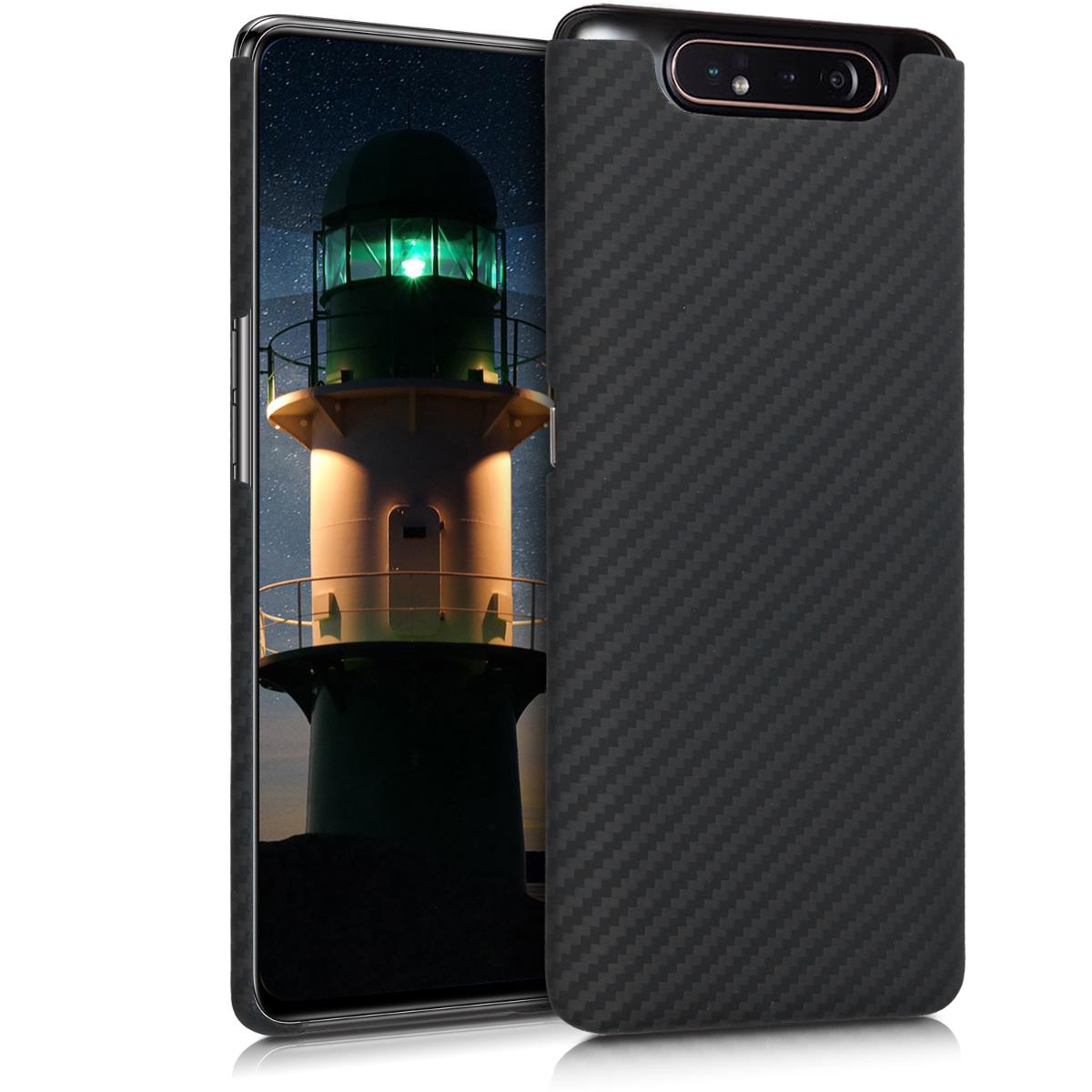 Kalibri Aramid Fiber Body - Σκληρή Θήκη Samsung Galaxy A80 - Black Matte (49827.47)