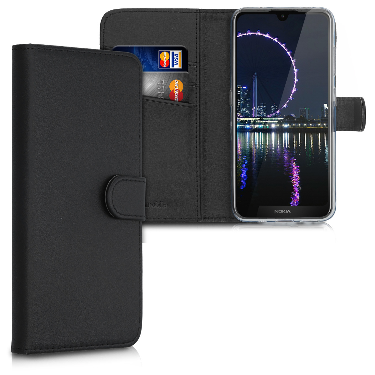 KW Θήκη - Πορτοφόλι Nokia 3.2 - Black (49889.01)