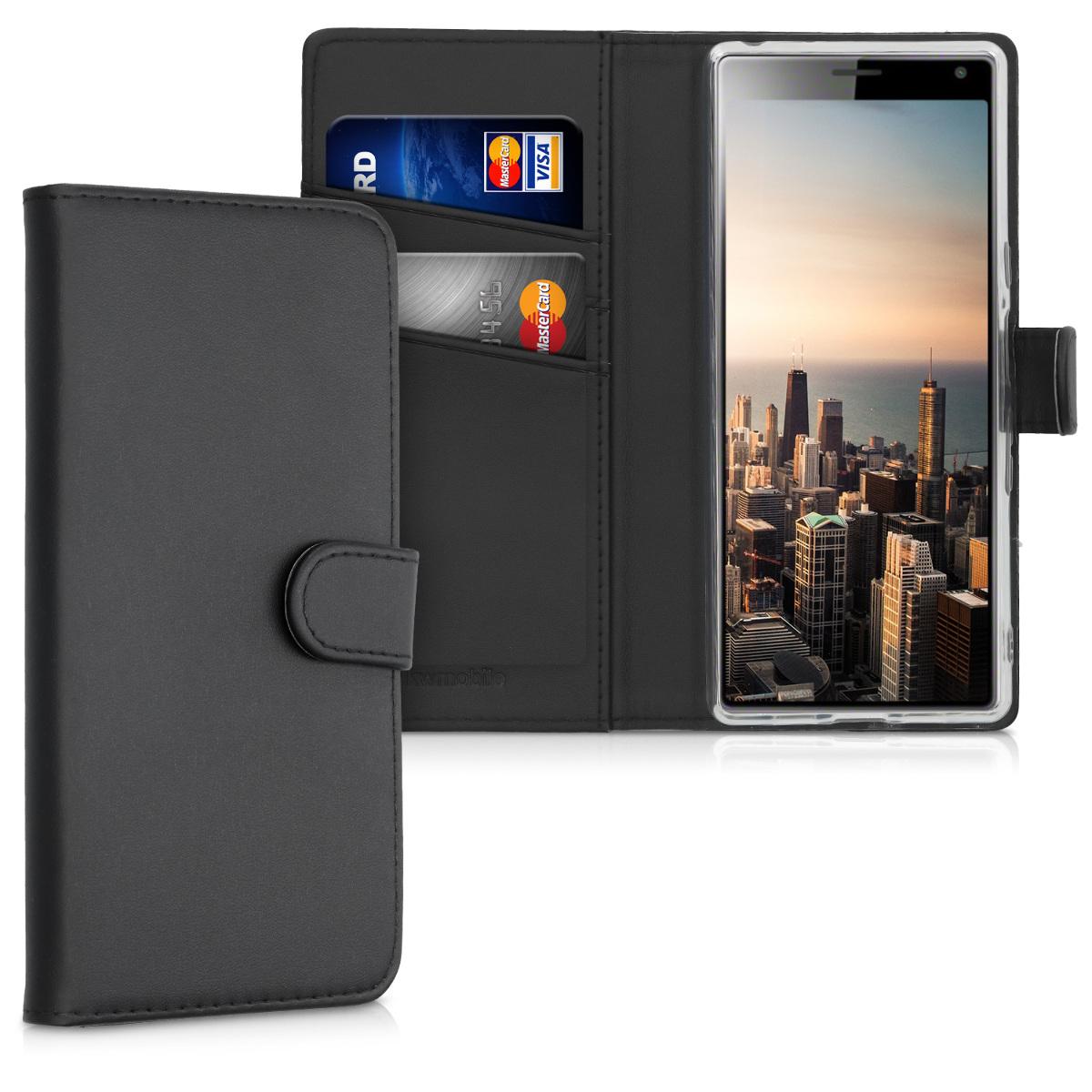 KW Θήκη Πορτοφόλι Sony Xperia 10 - Black (49892.01)