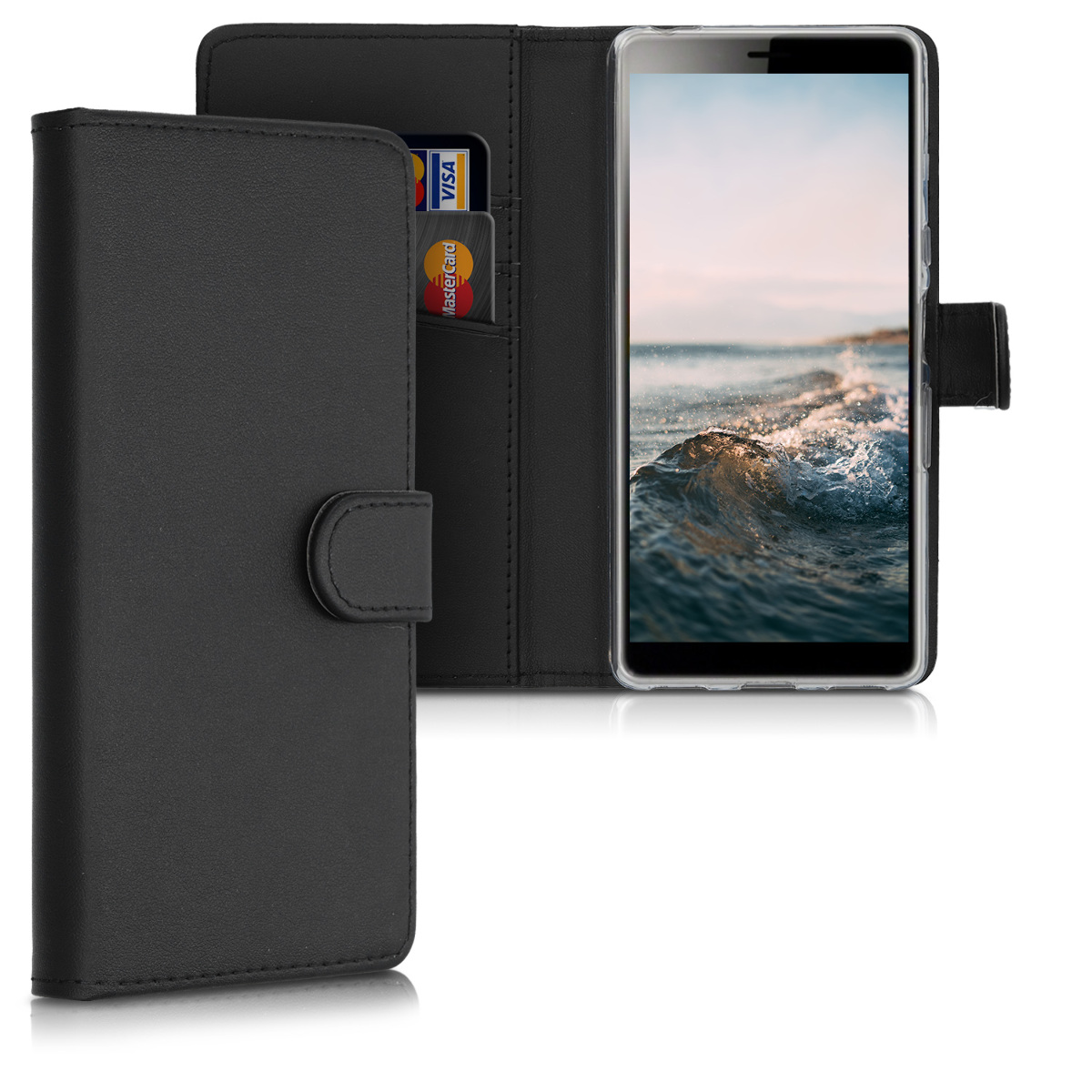 KW Θήκη Πορτοφόλι Sony Xperia L3 - Black (49893.01)
