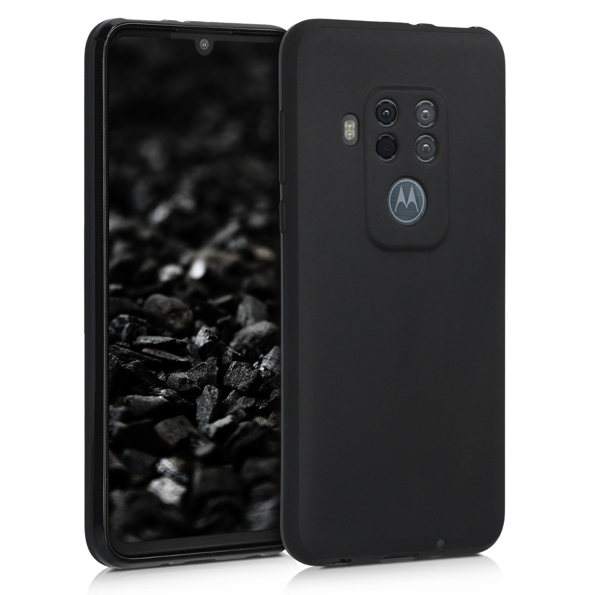 KW Θήκη Σιλικόνης Motorola One Zoom - Black Matte (49912.47)