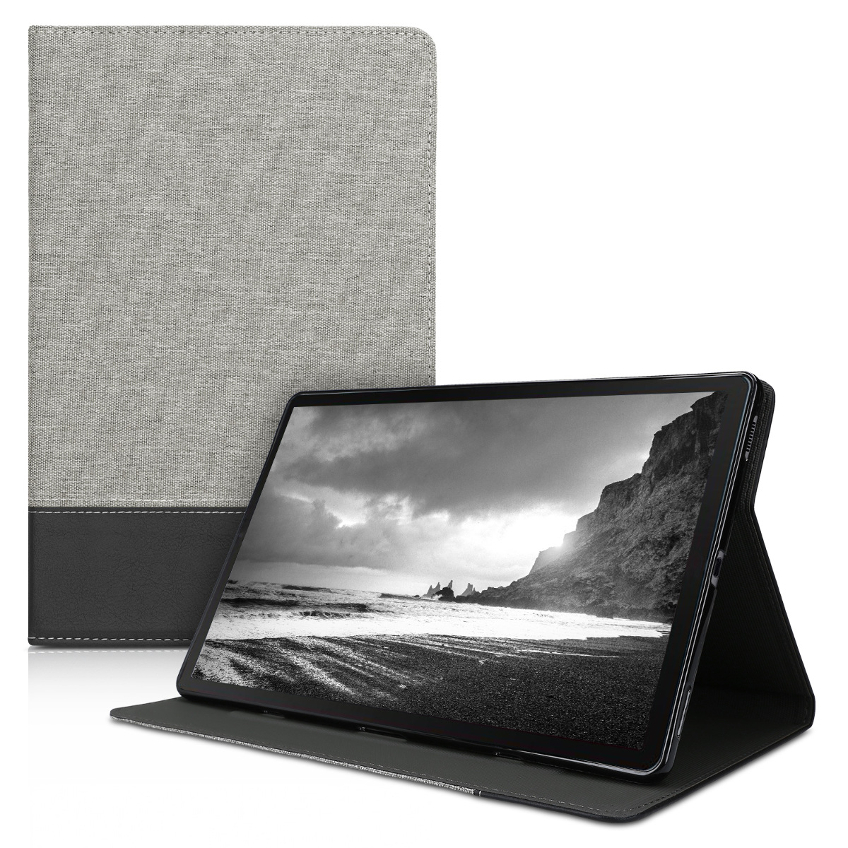 KW Θήκη Samsung Galaxy Tab S6 - Protective Cover with Stand Feature - Grey / Black (49934.01)