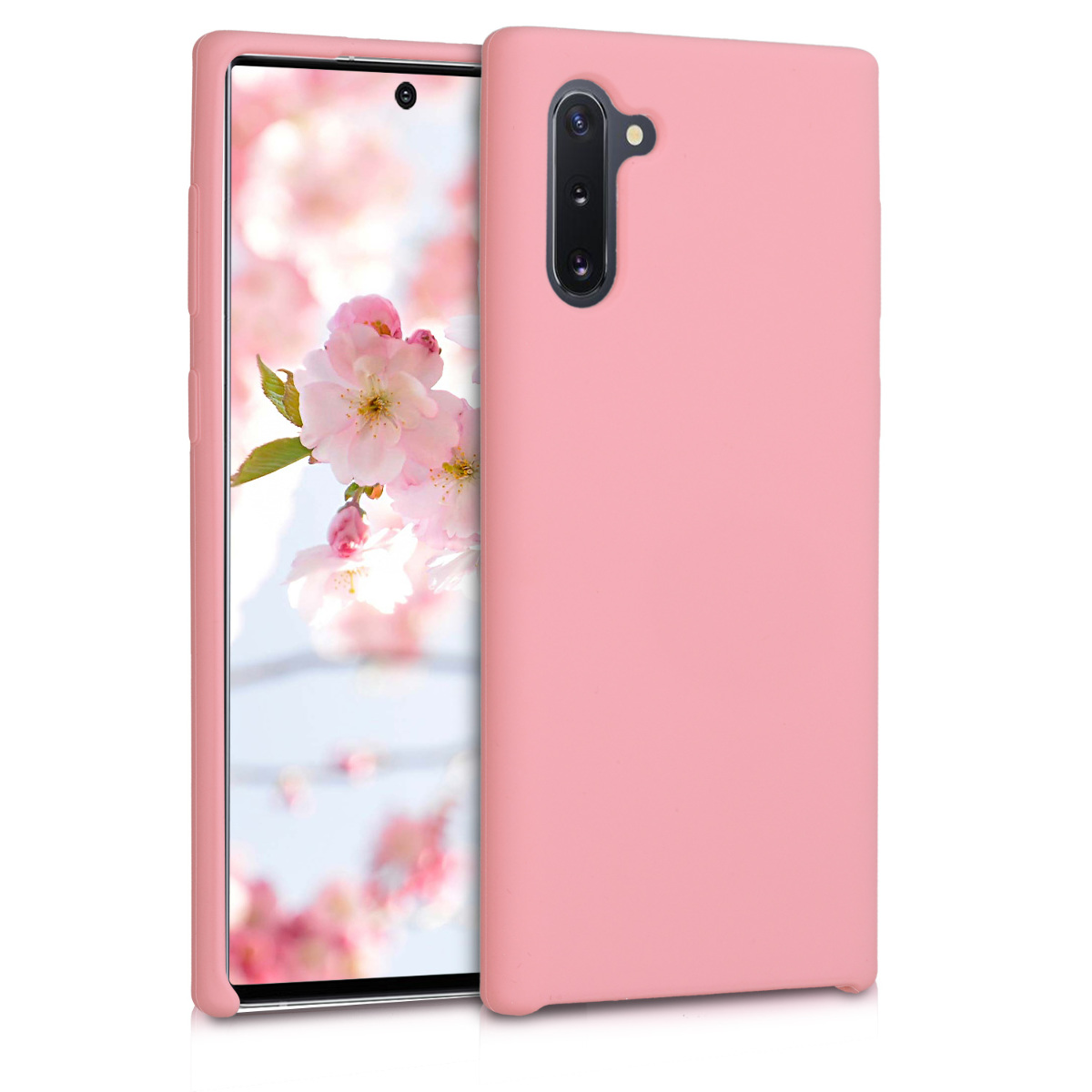KW Θήκη Σιλικόνης Samsung Galaxy Note 10 - Soft Flexible Rubber Protective Cover - Light Pink Matte (49955.123)