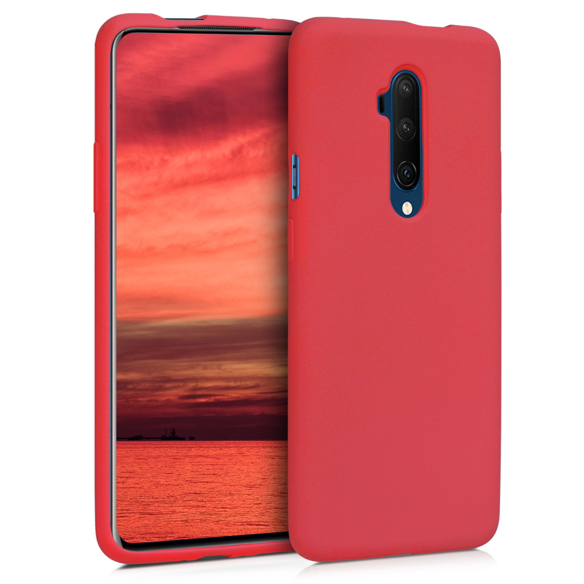 KW Θήκη Σιλικόνης OnePlus 7T Pro - Soft Flexible Rubber - Red (49989.09)