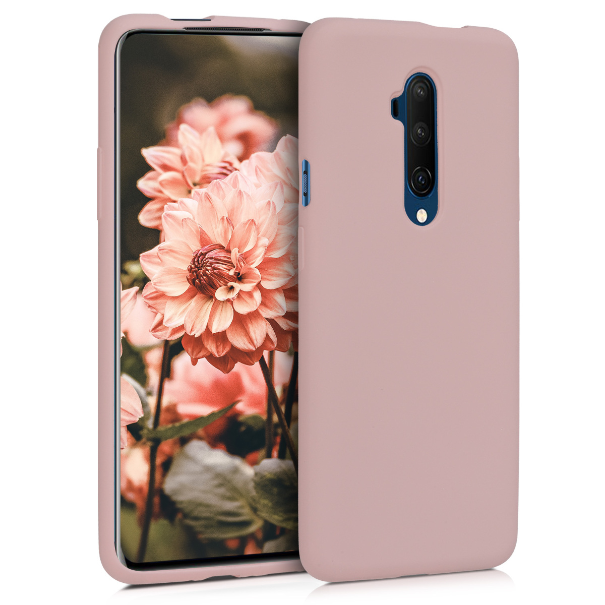 KW Θήκη Σιλικόνης OnePlus 7T Pro - Soft Flexible Rubber - Dusty Pink (49989.10)