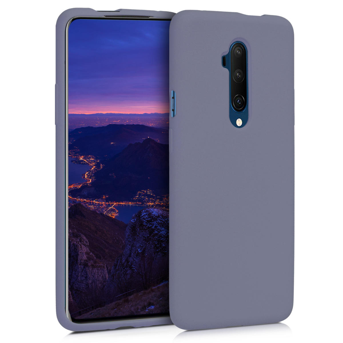 KW Θήκη Σιλικόνης OnePlus 7T Pro - Soft Flexible Rubber - Lavender Grey (49989.130)