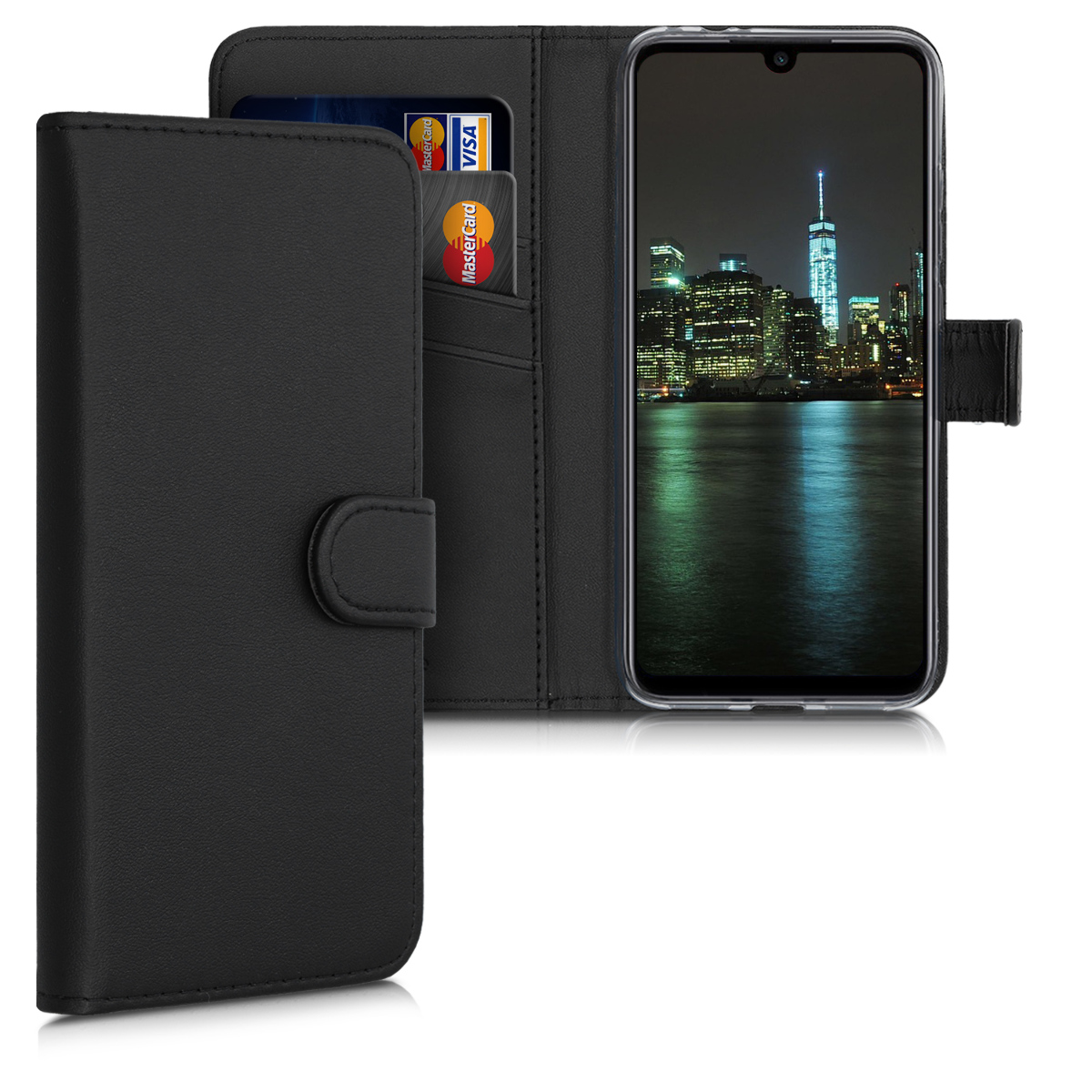 KW Θήκη - Πορτοφόλι Xiaomi Redmi Note 7 / Note 7 Pro - Protective Leather Flip Cover - Black (50034.01)
