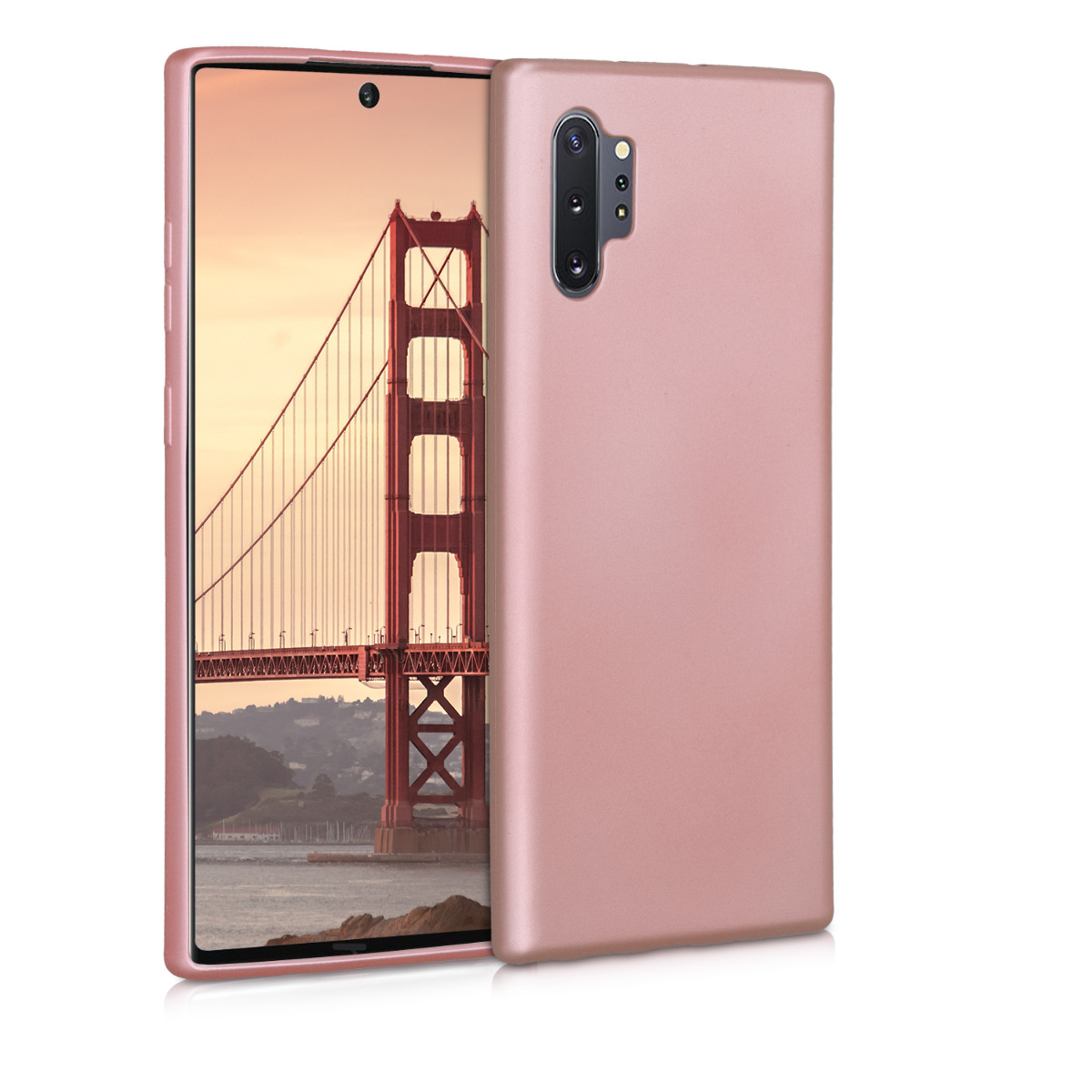 KW Θήκη Σιλικόνης Samsung Galaxy Note 10 Plus - Metallic Rose Gold (50038.31)