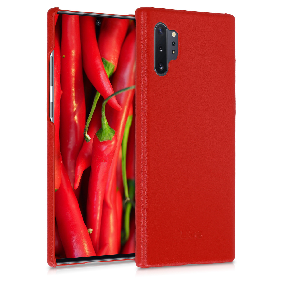 Kalibri Σκληρή Δερμάτινη Θήκη Samsung Galaxy Note 10 Plus - Smooth Genuine Leather - Red (50039.09)