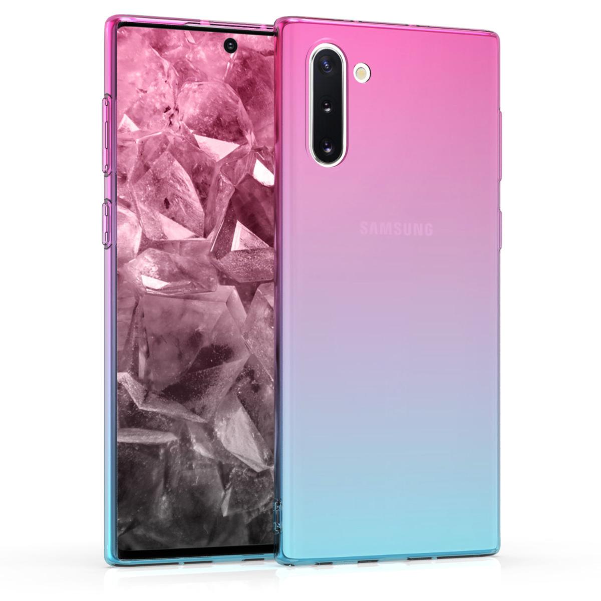 KW Θήκη Σιλικόνης Samsung Galaxy Note 10 - Dark Pink / Blue / Transparent (50108.01)