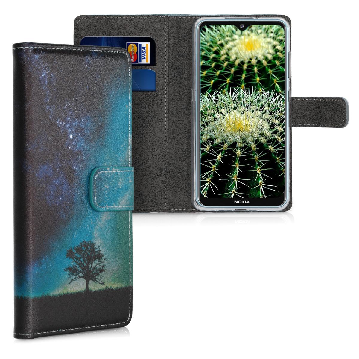 KW Θήκη - Πορτοφόλι Nokia 6.2 - Blue / Grey / Black (50146.01)