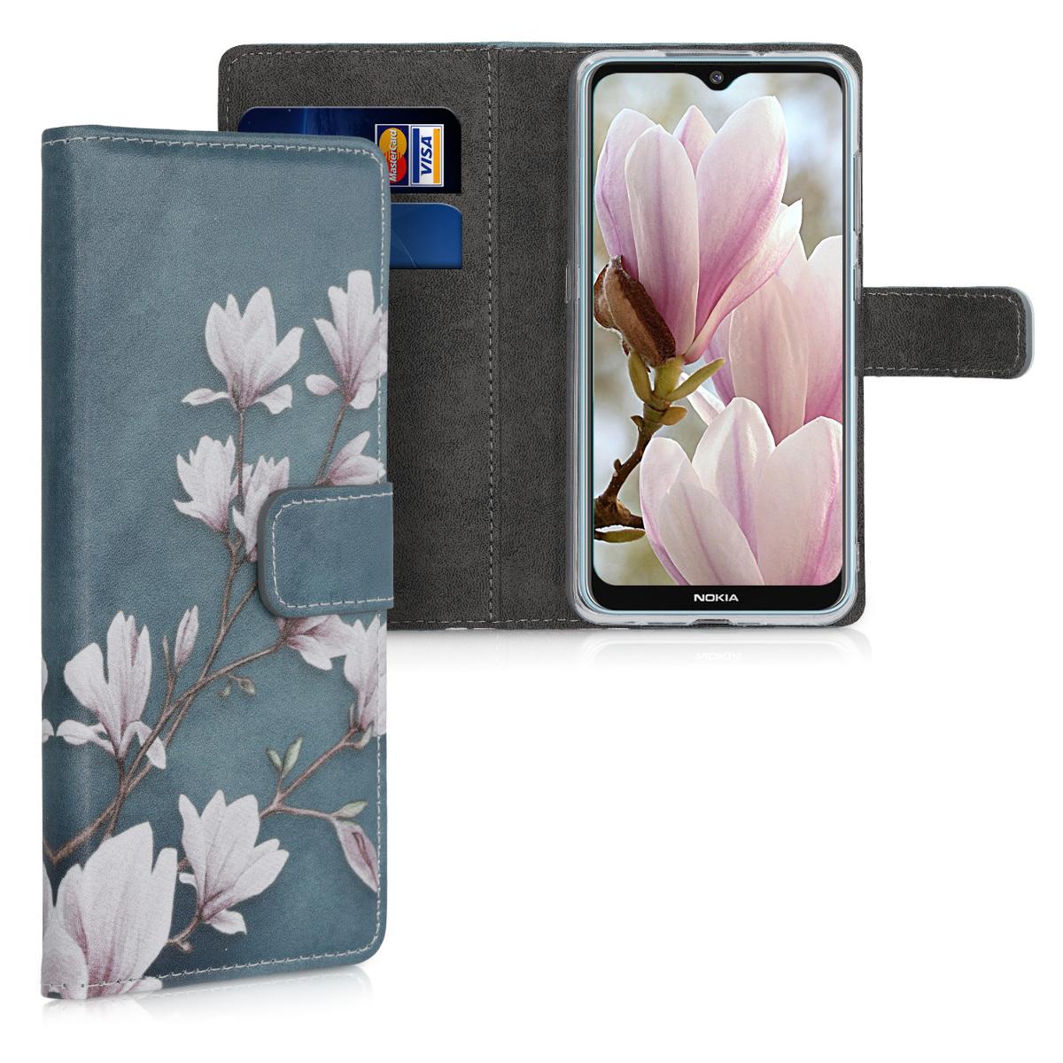 KW Θήκη - Πορτοφόλι Nokia 6.2 - Taupe / White / Blue Grey (50146.02)