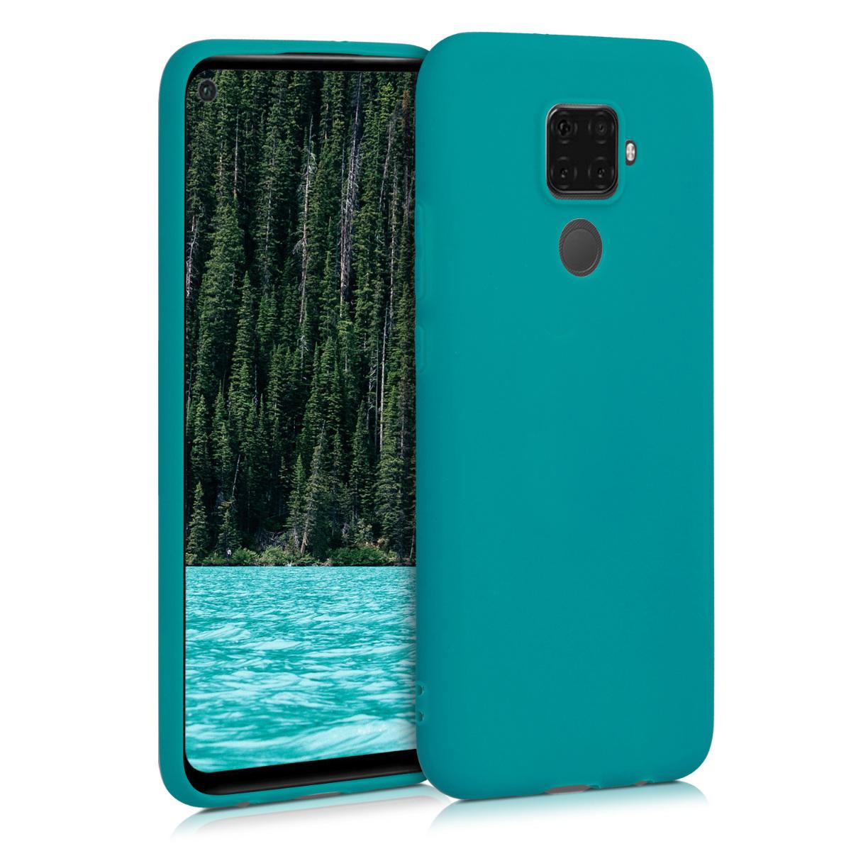 KW Θήκη Σιλικόνης Huawei Mate 30 Lite - Teal Matte (50153.57)