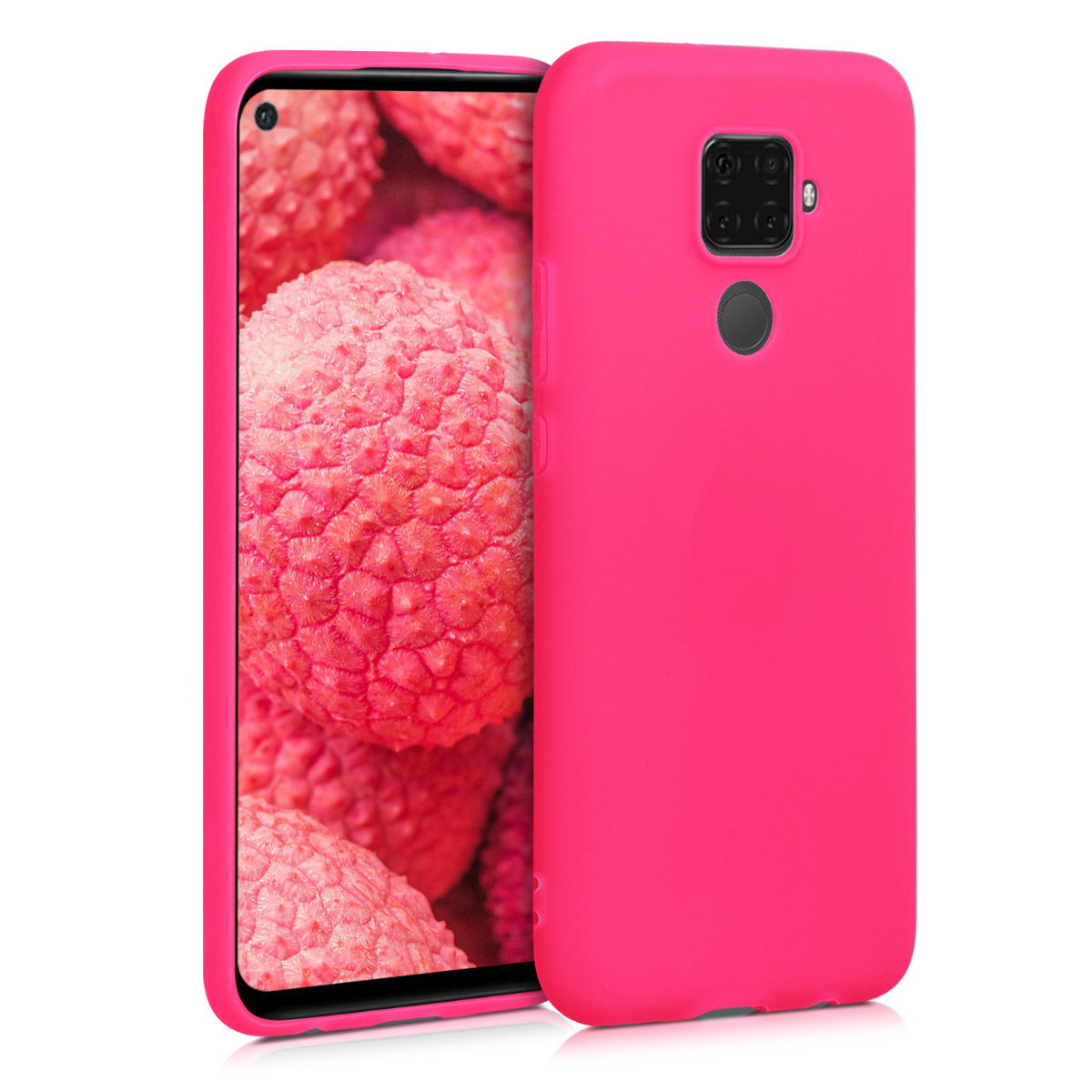 KW Θήκη Σιλικόνης Huawei Mate 30 Lite - Neon Pink (50153.77)