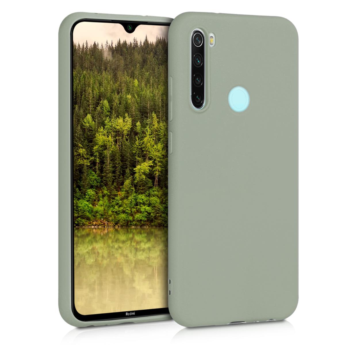 KW Θήκη Σιλικόνης Xiaomi Redmi Note 8 - Gray Green (50180.172)