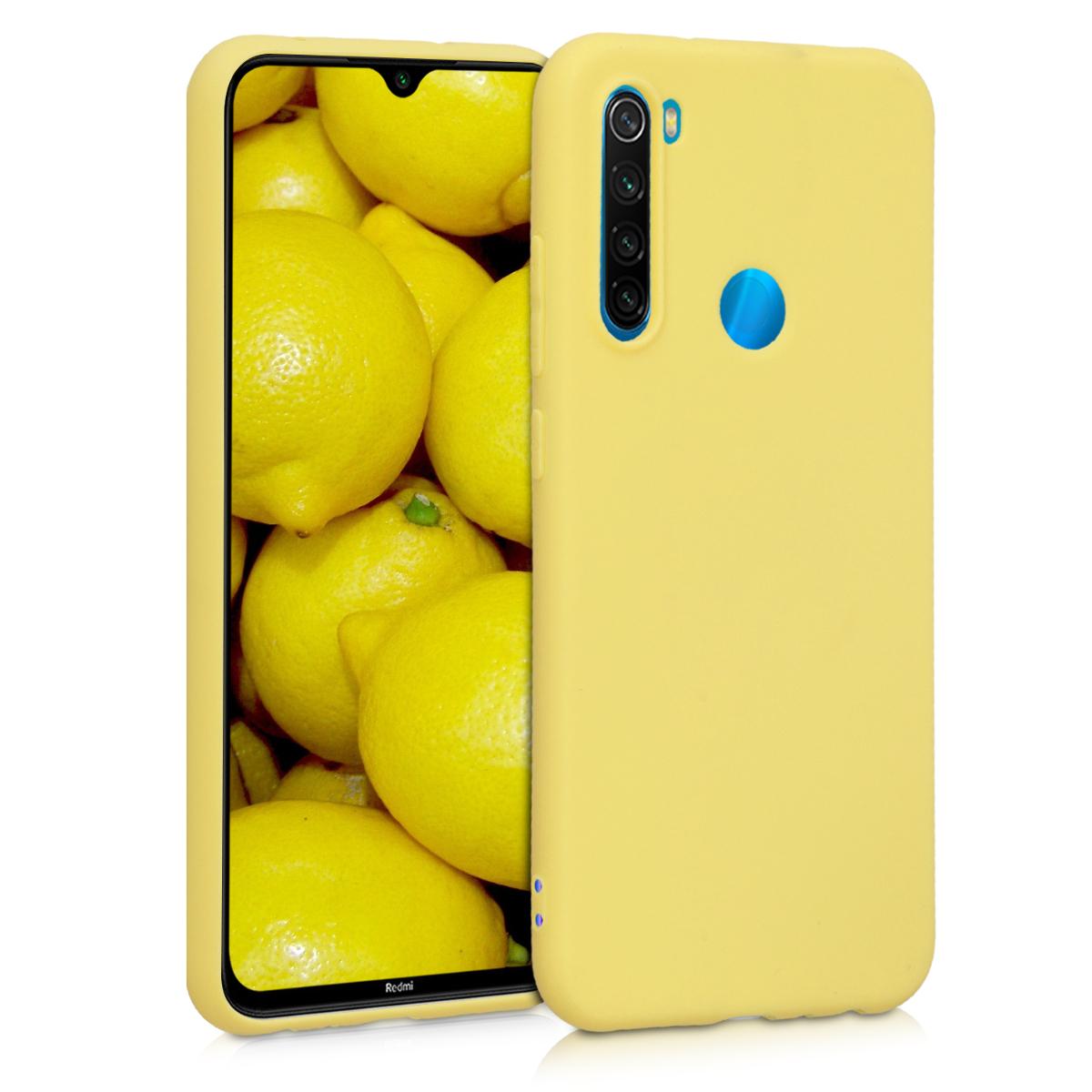 KW Θήκη Σιλικόνης Xiaomi Redmi Note 8 - Yellow Matte (50180.49)