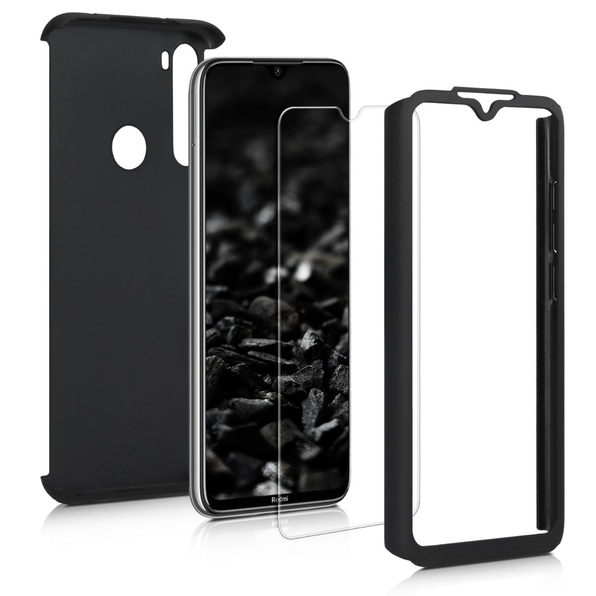 KW Θήκη Full Body Xiaomi Redmi Note 8 & Tempered Glass - Metallic Black (50191.68)