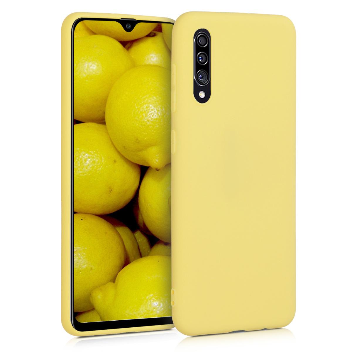 KW Θήκη Σιλικόνης Samsung Galaxy A30s - Yellow Matte (50194.49)