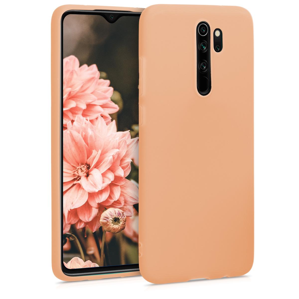 KW Θήκη Σιλικόνης Xiaomi Redmi Note 8 Pro - Peach (50242.138)